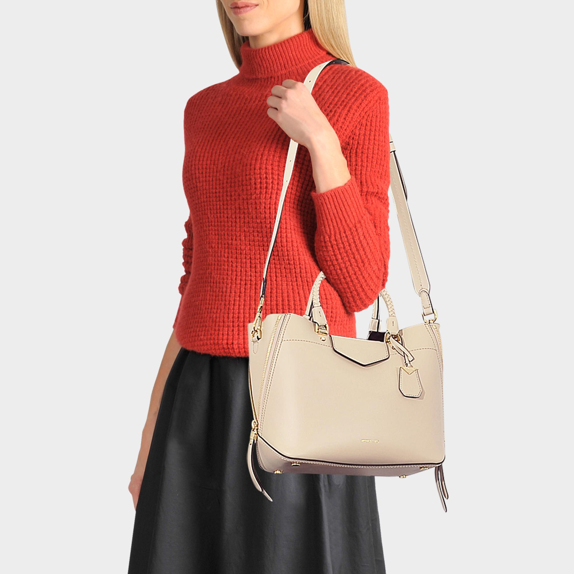 40a83b5e0676 MICHAEL Michael Kors Blakely Medium Tote Bag In Oat Viola Leather - Lyst
