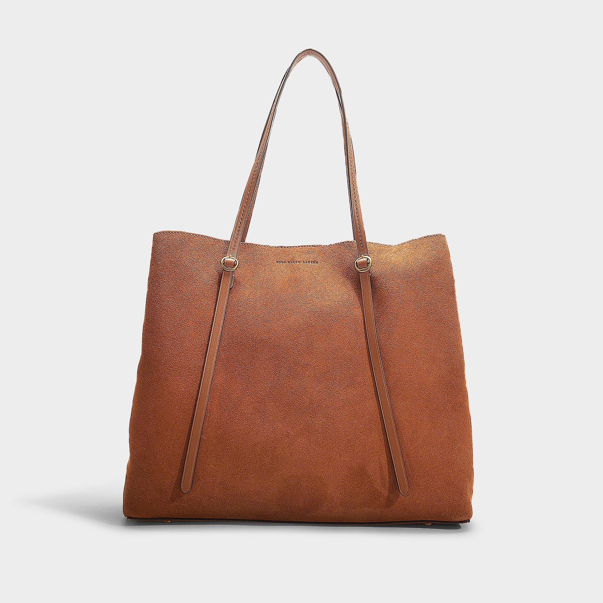 Polo Ralph Lauren Big Lennox Tote Bag In Camel Calfskin in Brown - Lyst afeddbd647