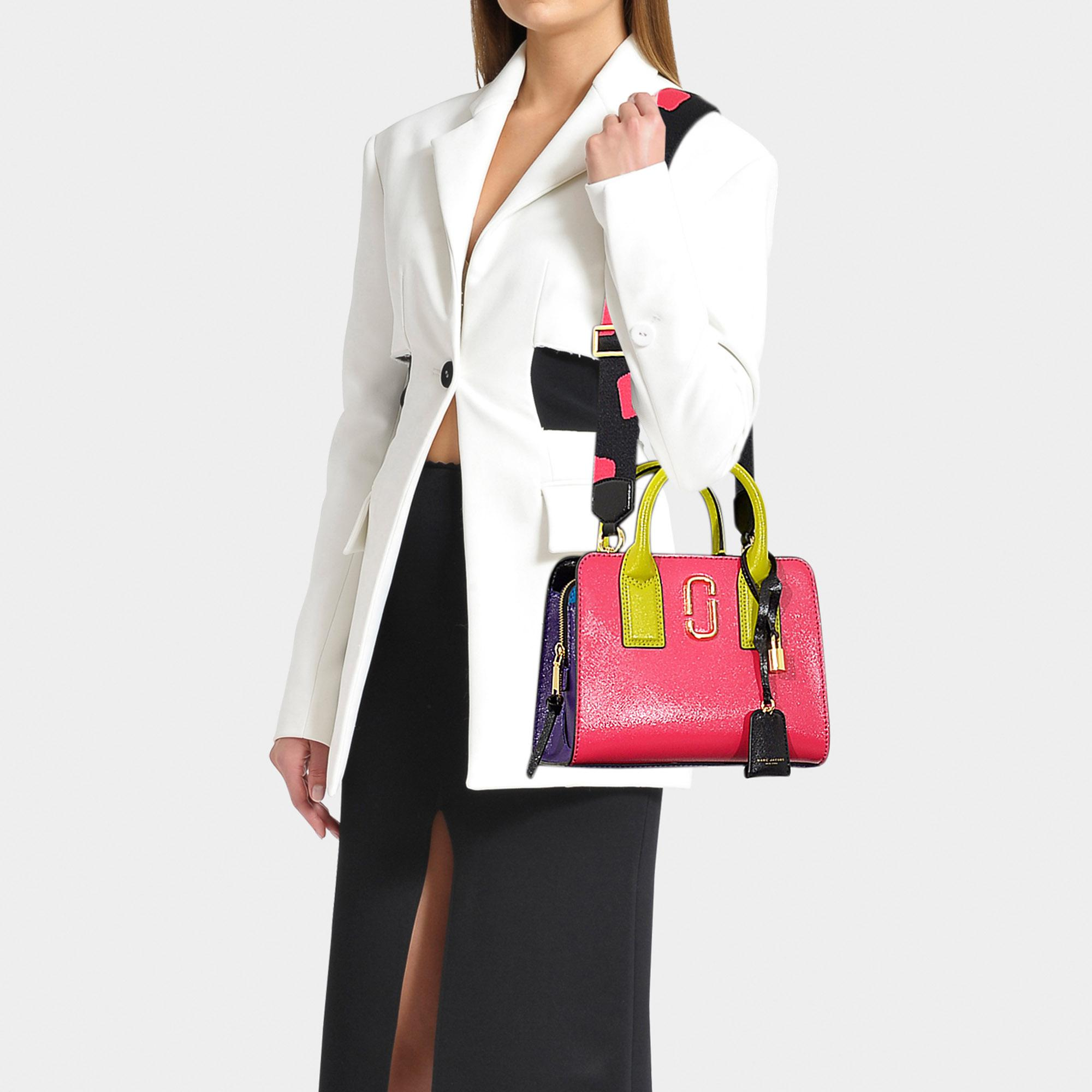 ddf6892a93 Marc Jacobs - Little Big Shot Bag In Multicolor Peony Pink Polyurethane  Coated Calfskin - Lyst