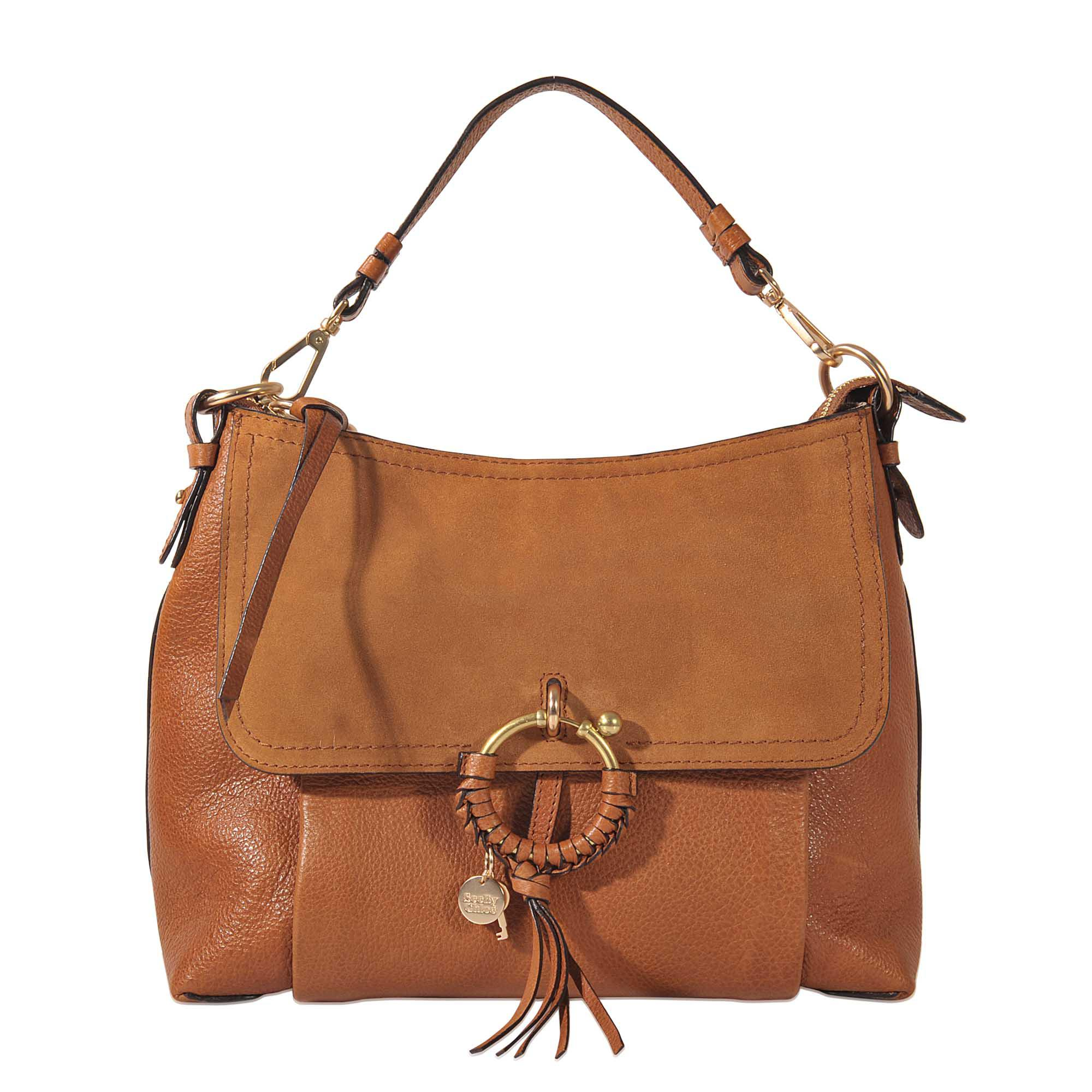 Joan Medium Hobo Bag in Caramelo Leather and Suede See By Chlo XGAbB
