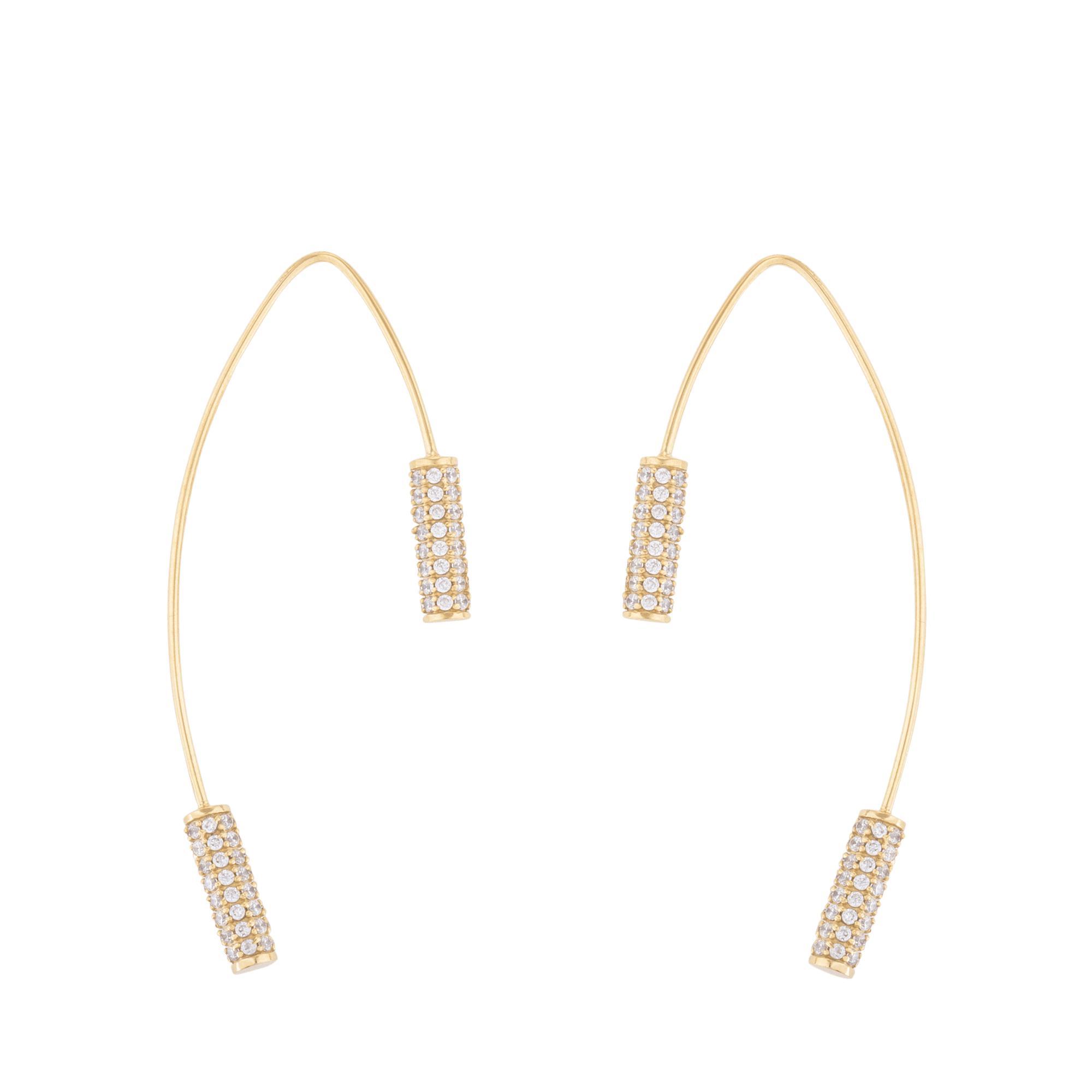 Joanna Laura Constantine Link Pave Stud Earrings mfuN7L1kwc