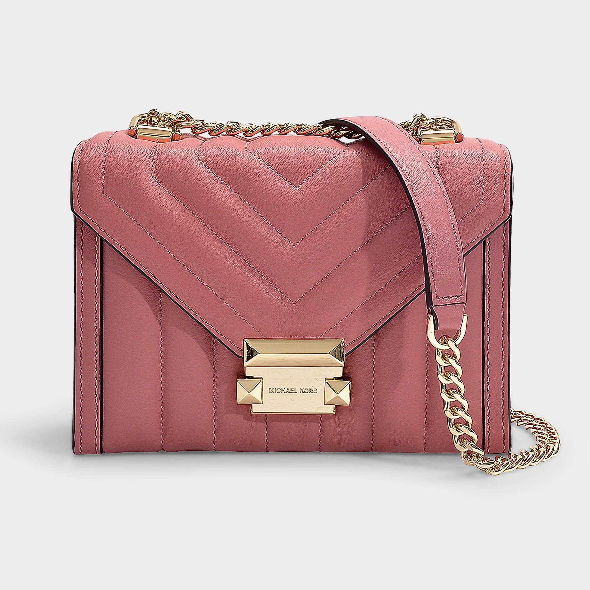 5bc28e9490dd Lyst - MICHAEL Michael Kors Whitney Small Shoulder Bag In Rose ...
