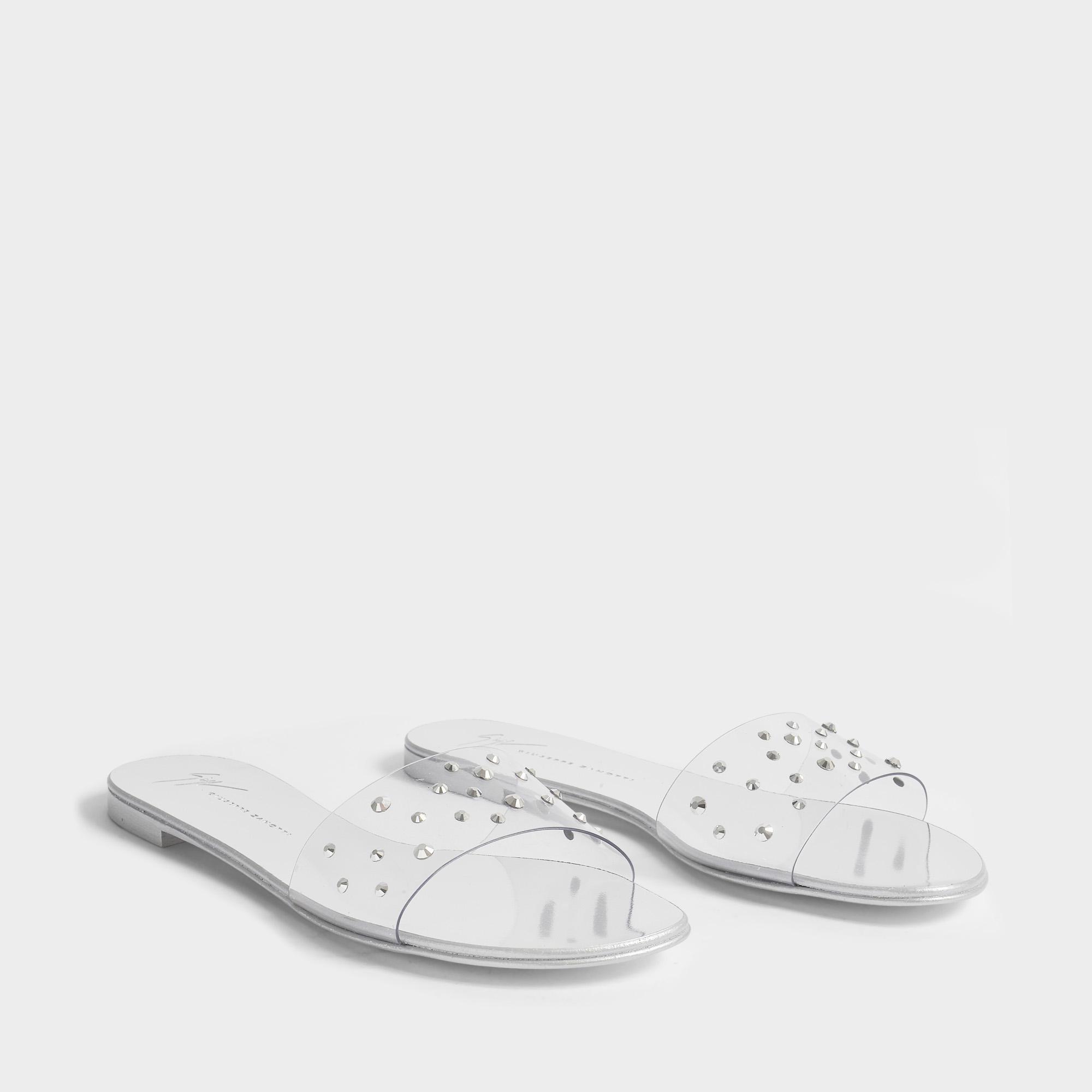 Plexiglass Et Giuseppe Zanotti Chaussures Toboggan Diamonte En Pvc Argent LT27iz6q