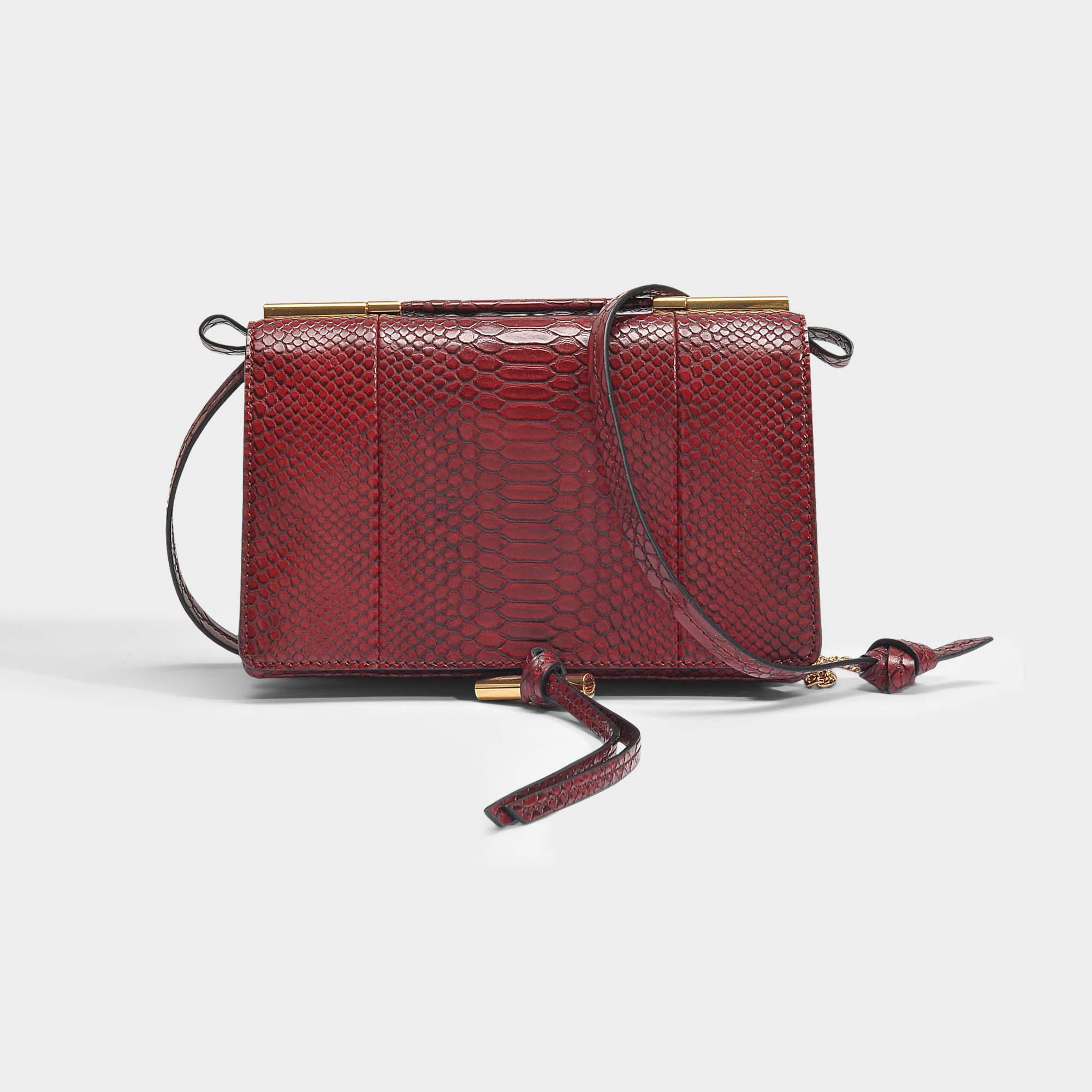d17d32a8de Stella Mccartney Alter Snake Small Shoulder Bag In Burgundy Eco ...