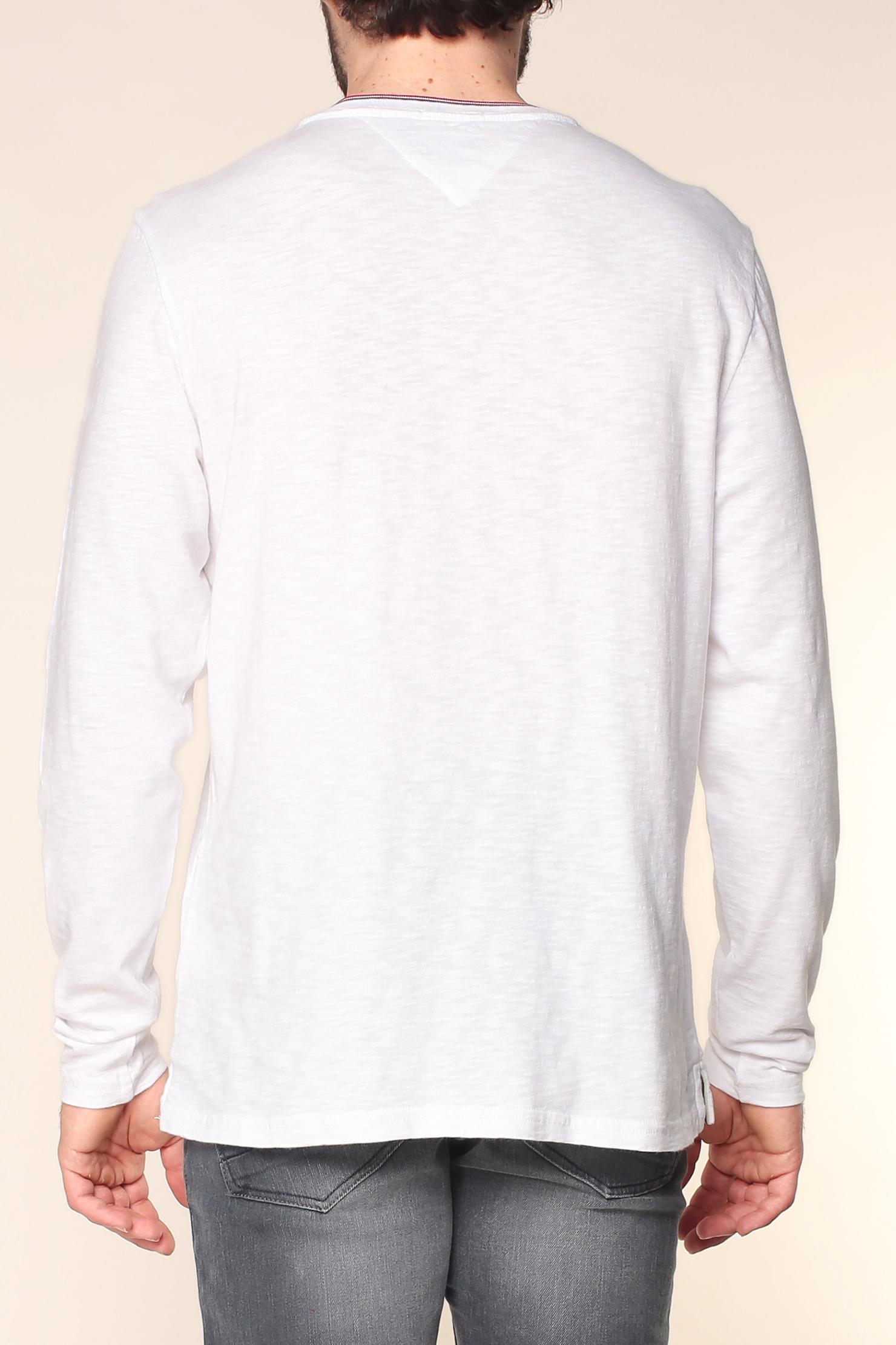 hilfiger denim long sleeve t shirt in white for men lyst. Black Bedroom Furniture Sets. Home Design Ideas
