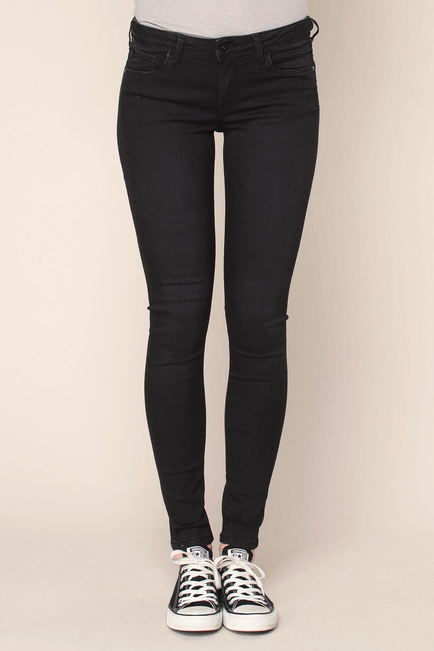 Pepe jeans soho skinny jeans in black lyst - Pepe jeans showroom ...