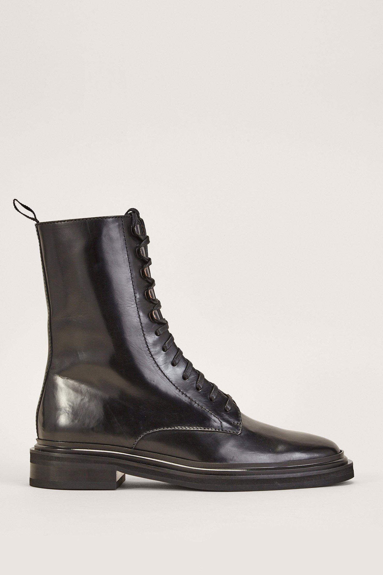 Veronique Branquinho Patent Leather Ankle Boots