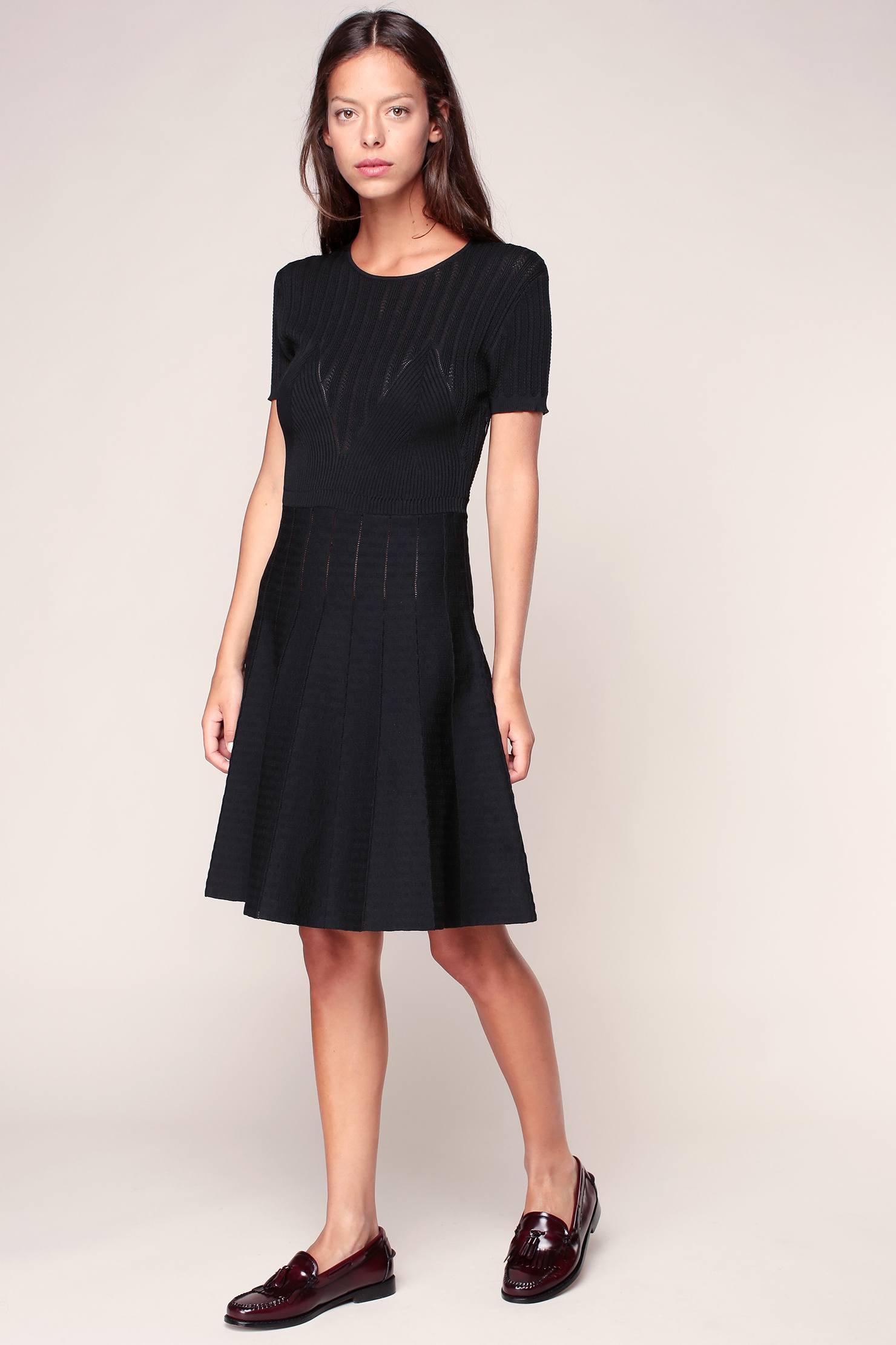 lyst manoush knitwear dress in black