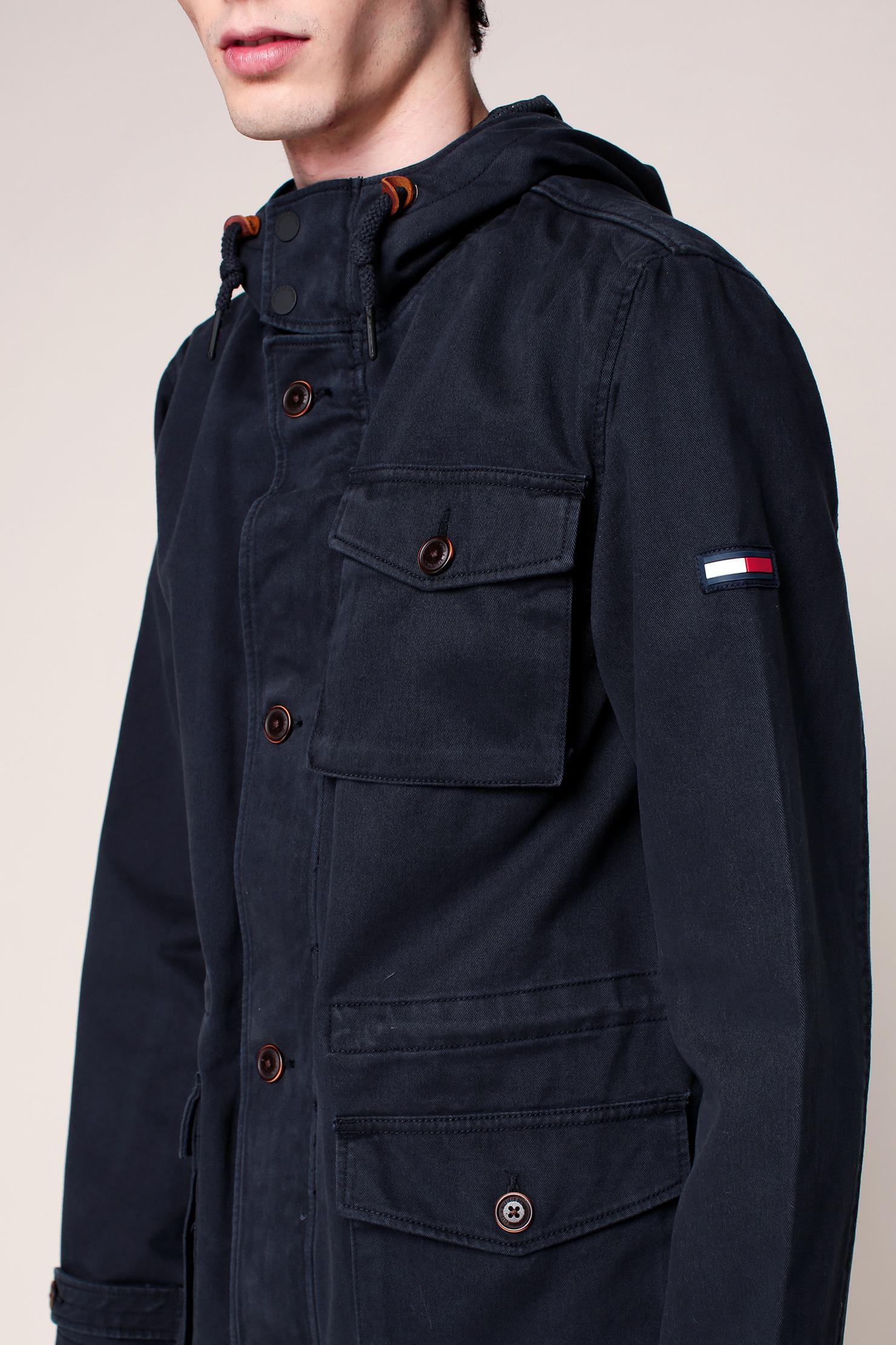 lyst hilfiger denim parka in blue for men. Black Bedroom Furniture Sets. Home Design Ideas