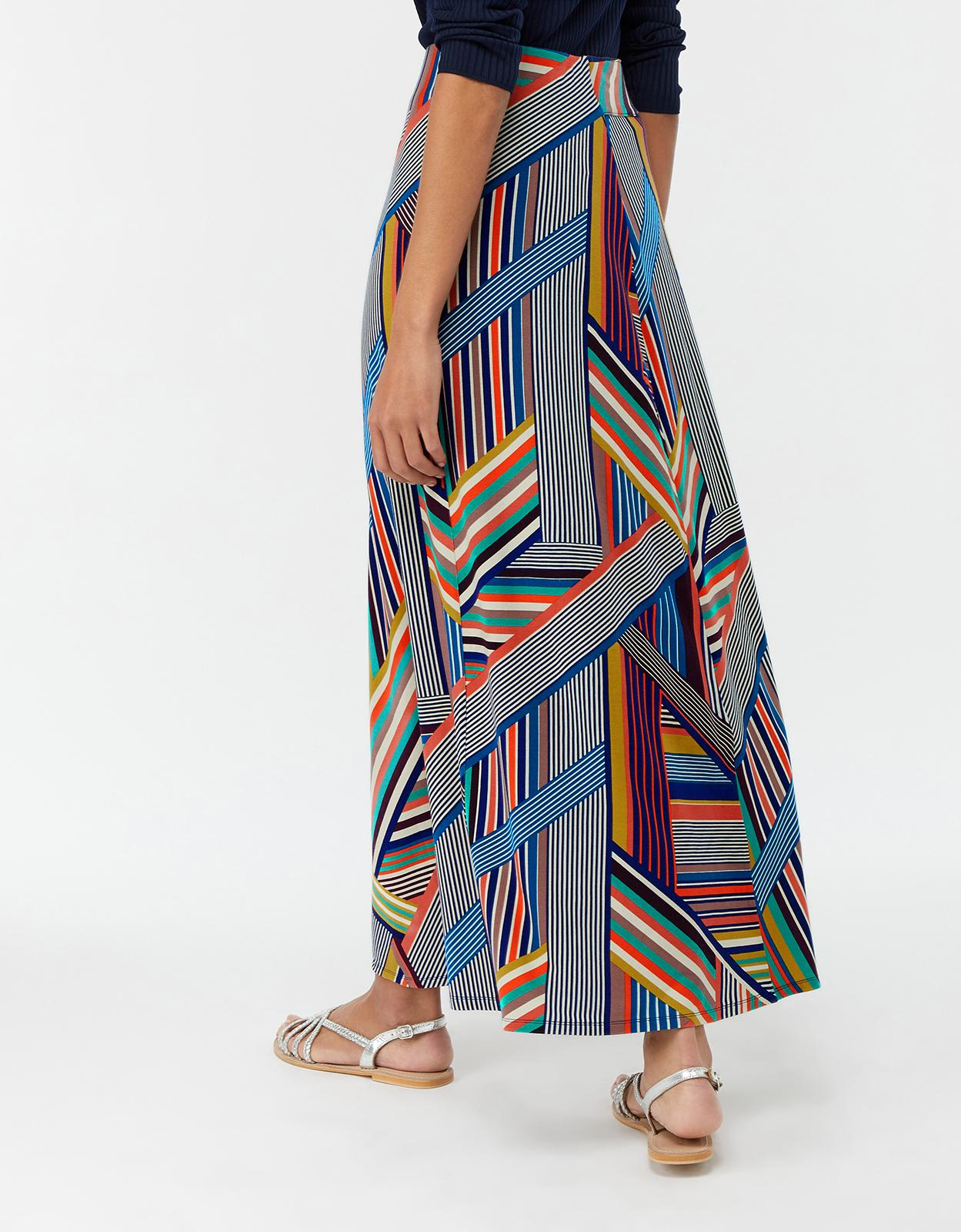 008568663f Monsoon - Blue Multicoloured 'siani' Stripe Maxi Skirt - Lyst. View  fullscreen