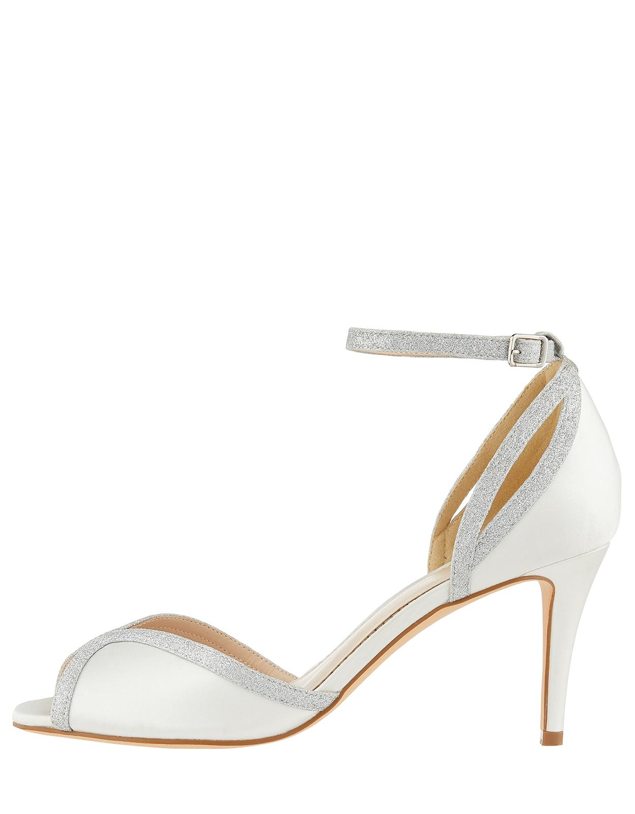 e9ed4df4002 Monsoon Gizela Glitter Two Part Peep Toe Bridal Shoes in White - Lyst