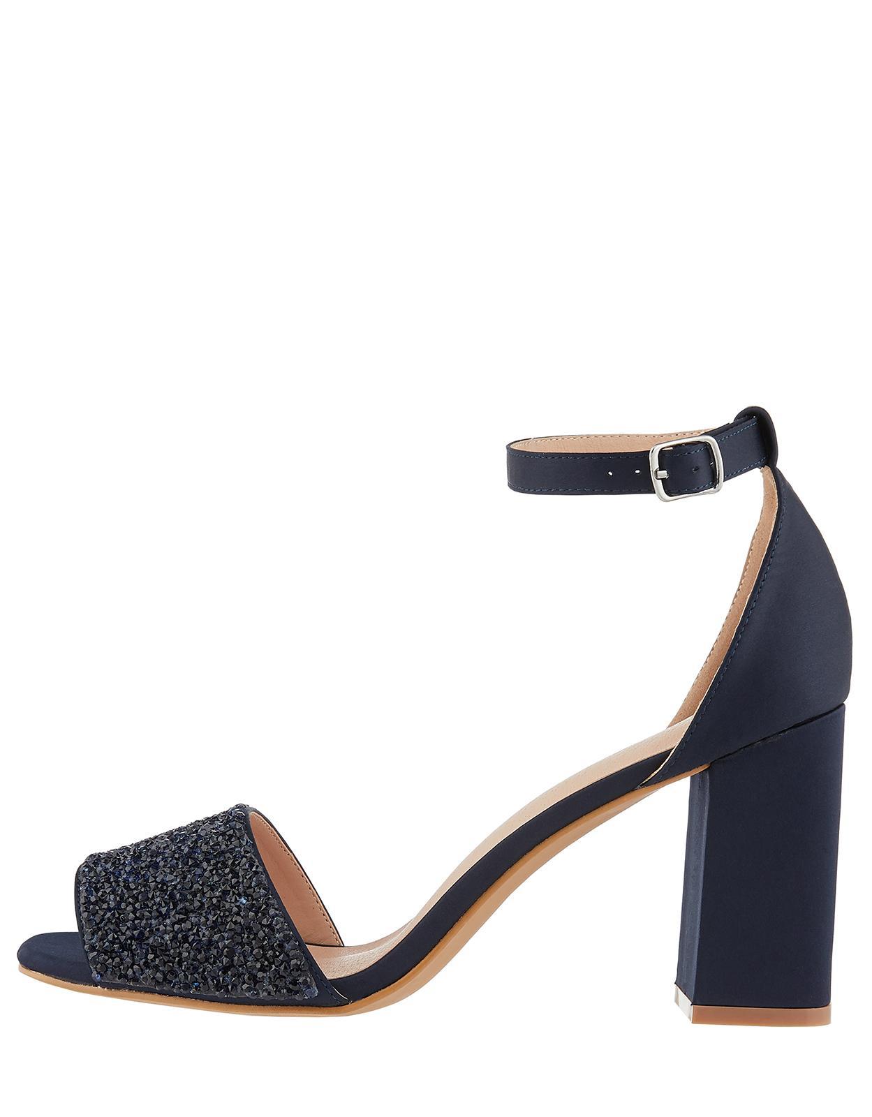 a5b6c963477 Monsoon Sasi Sparkly Vamp Block Heel Sandals in Blue - Lyst