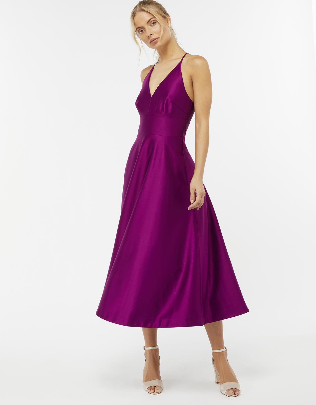 Monsoon Stevie Fit & Flare Dress in Purple - Lyst