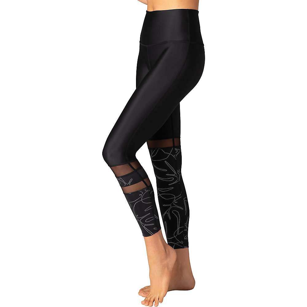 1d1f0f4de4 Beyond Yoga - Black Flashback Paneled High Waisted Midi Legging - Lyst.  View fullscreen