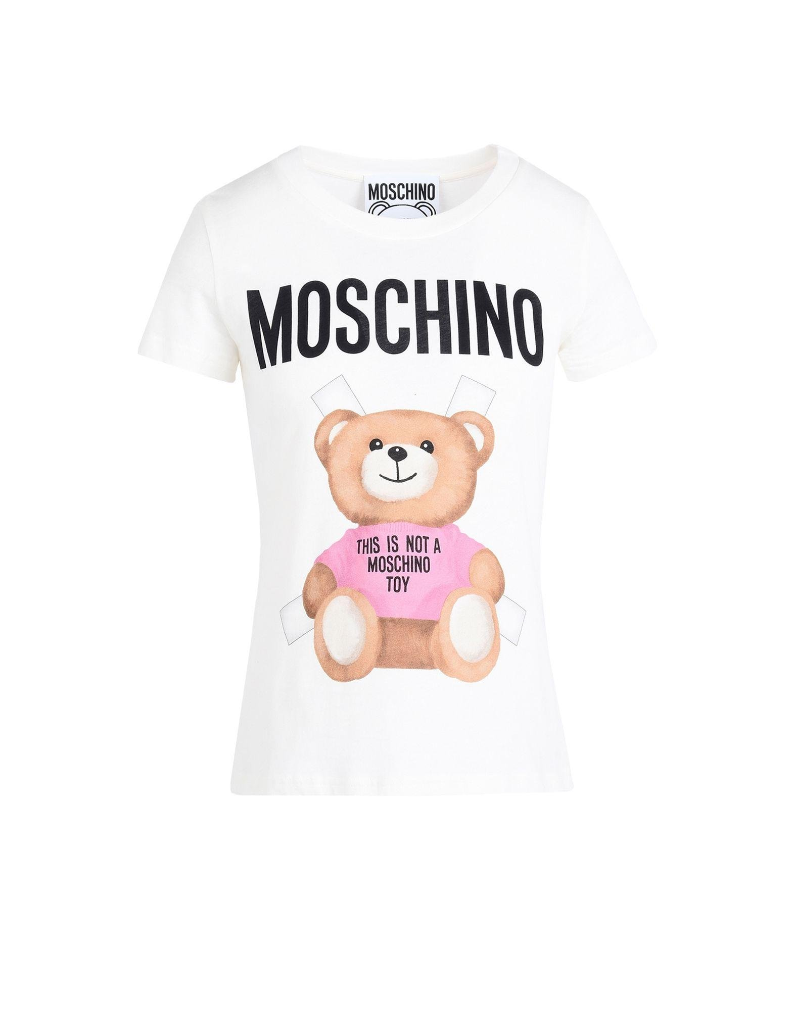 Moschino Short Sleeve T-shirts in White | Lyst