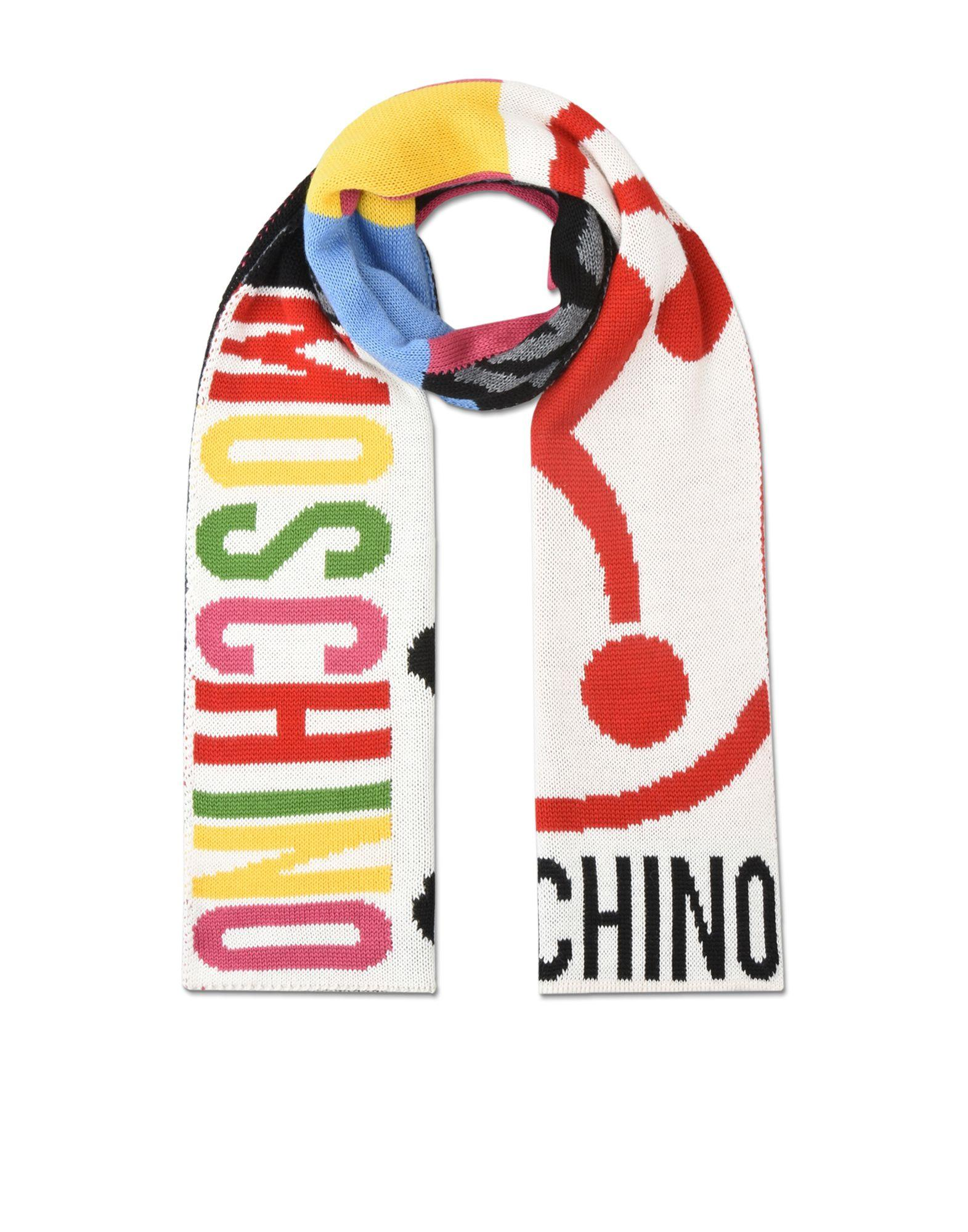 moschino scarf in white for lyst