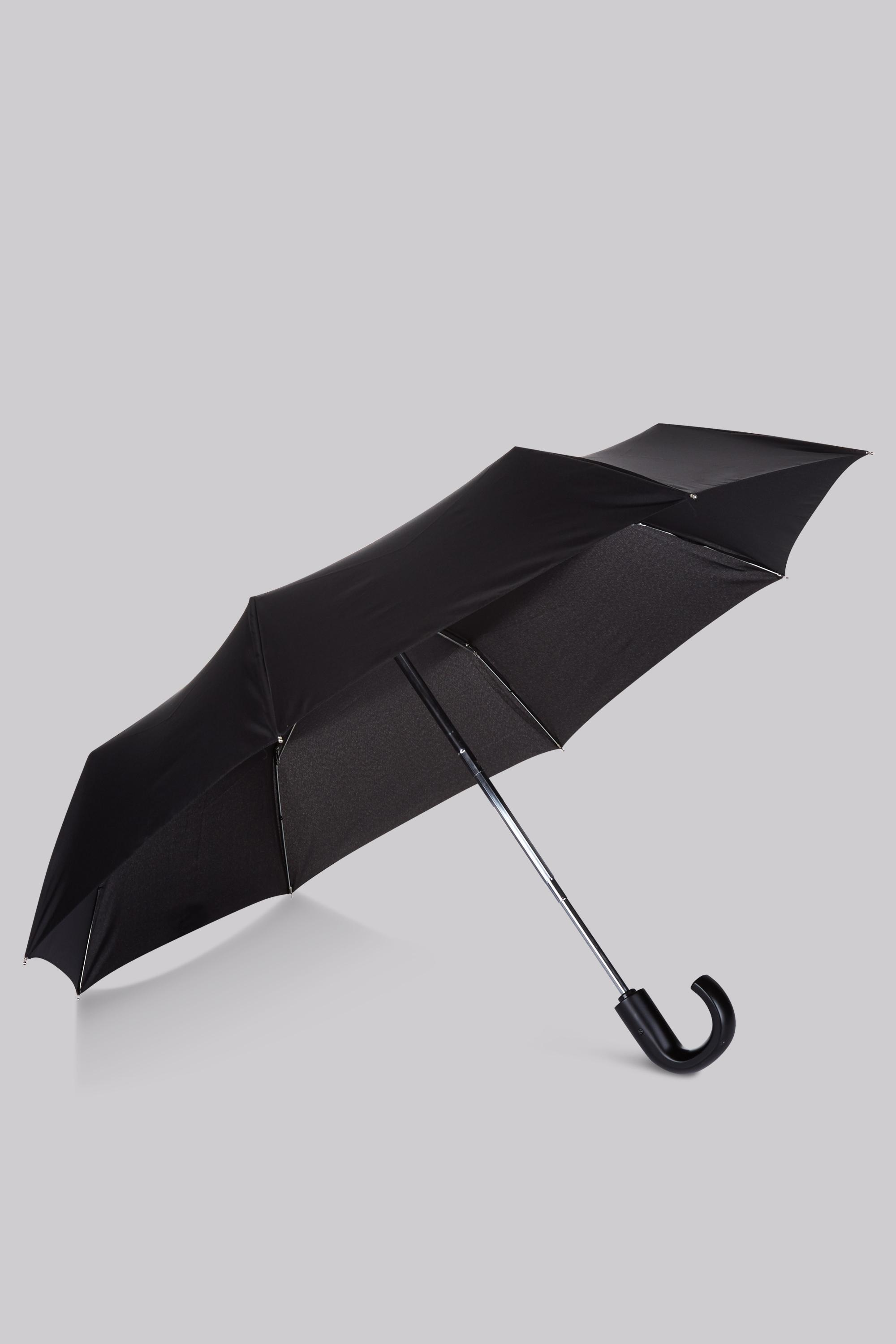 Fulton Auto Open /& Close Mens Compact Flat Umbrella Black