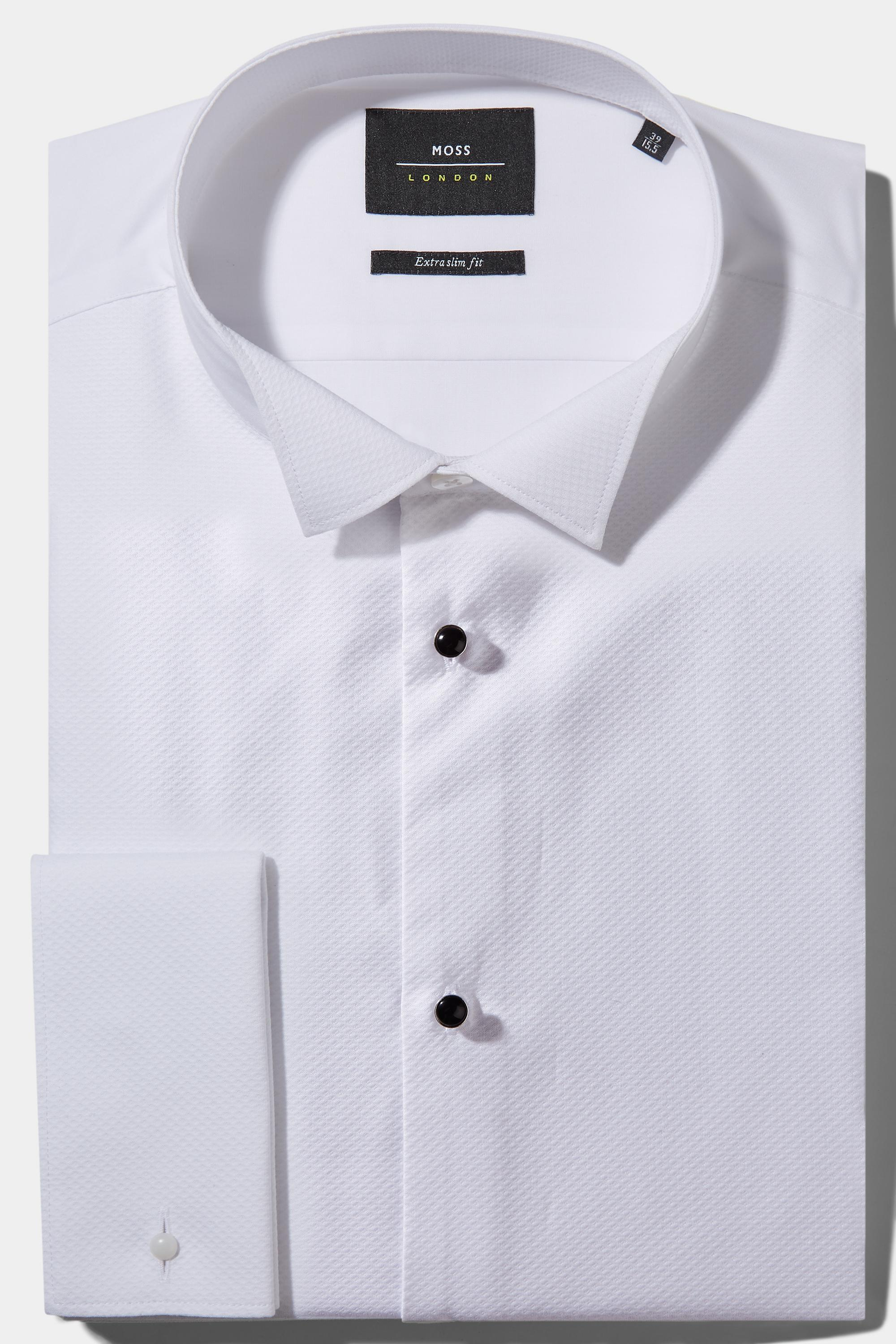 Lyst Moss Bros Extra Slim Fit Marcella Wing Collar Dress Shirt For Men