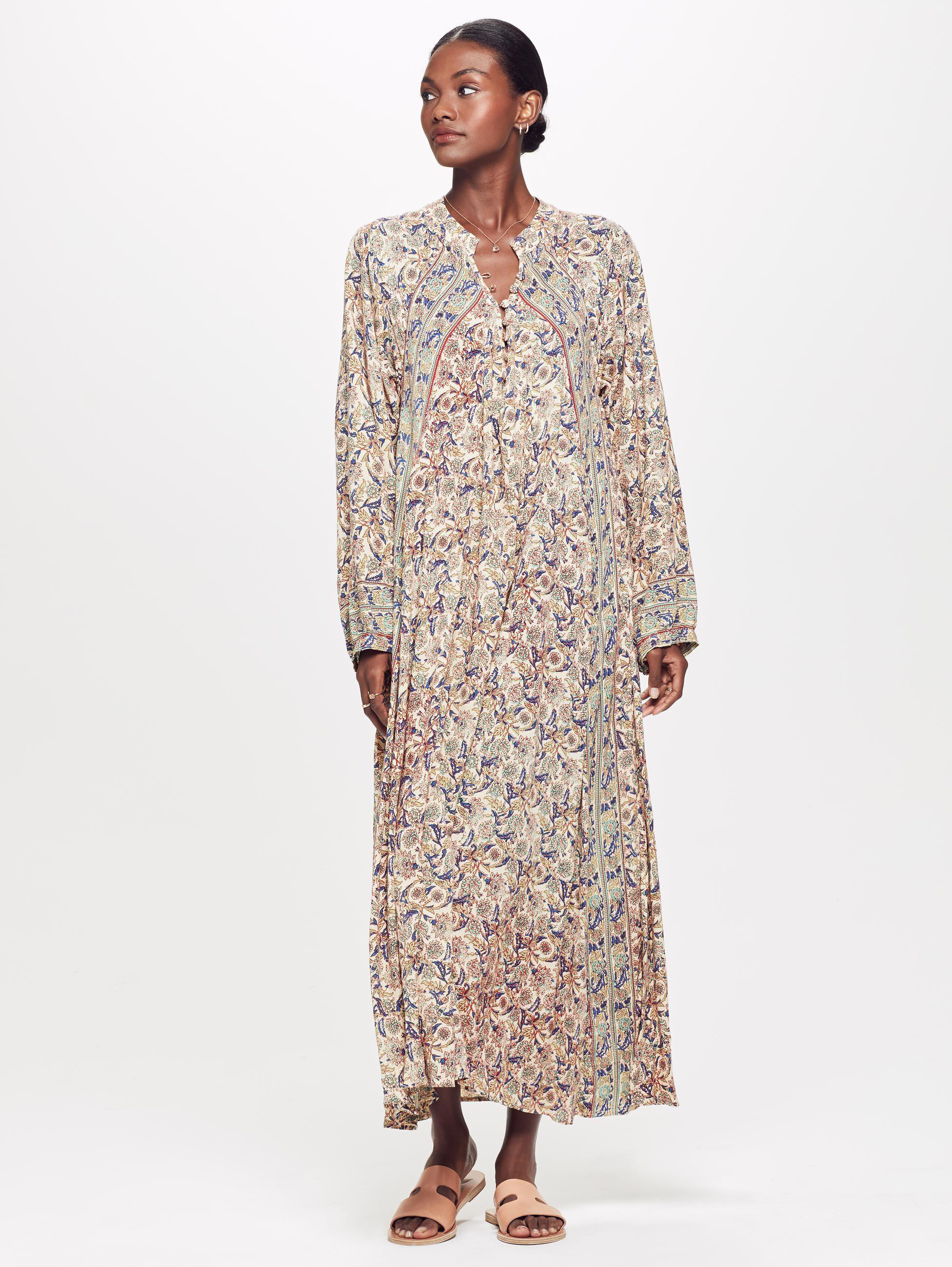 14a888df420 Natalie Martin Fiore Maxi Dress Goa in Natural - Lyst