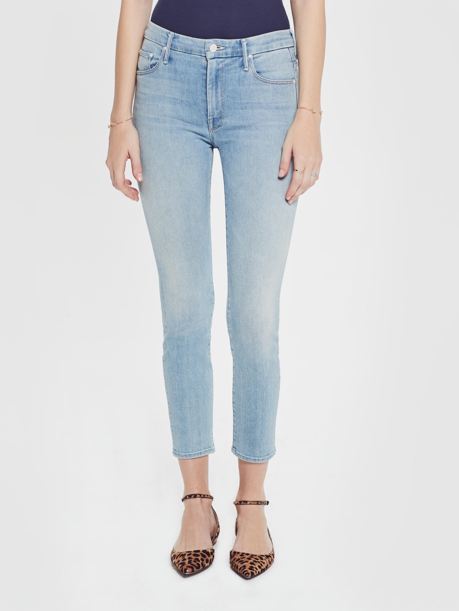 551bd105ecab Mother Denim The High Waisted Looker Crop Swimming Pool Sunday in ...