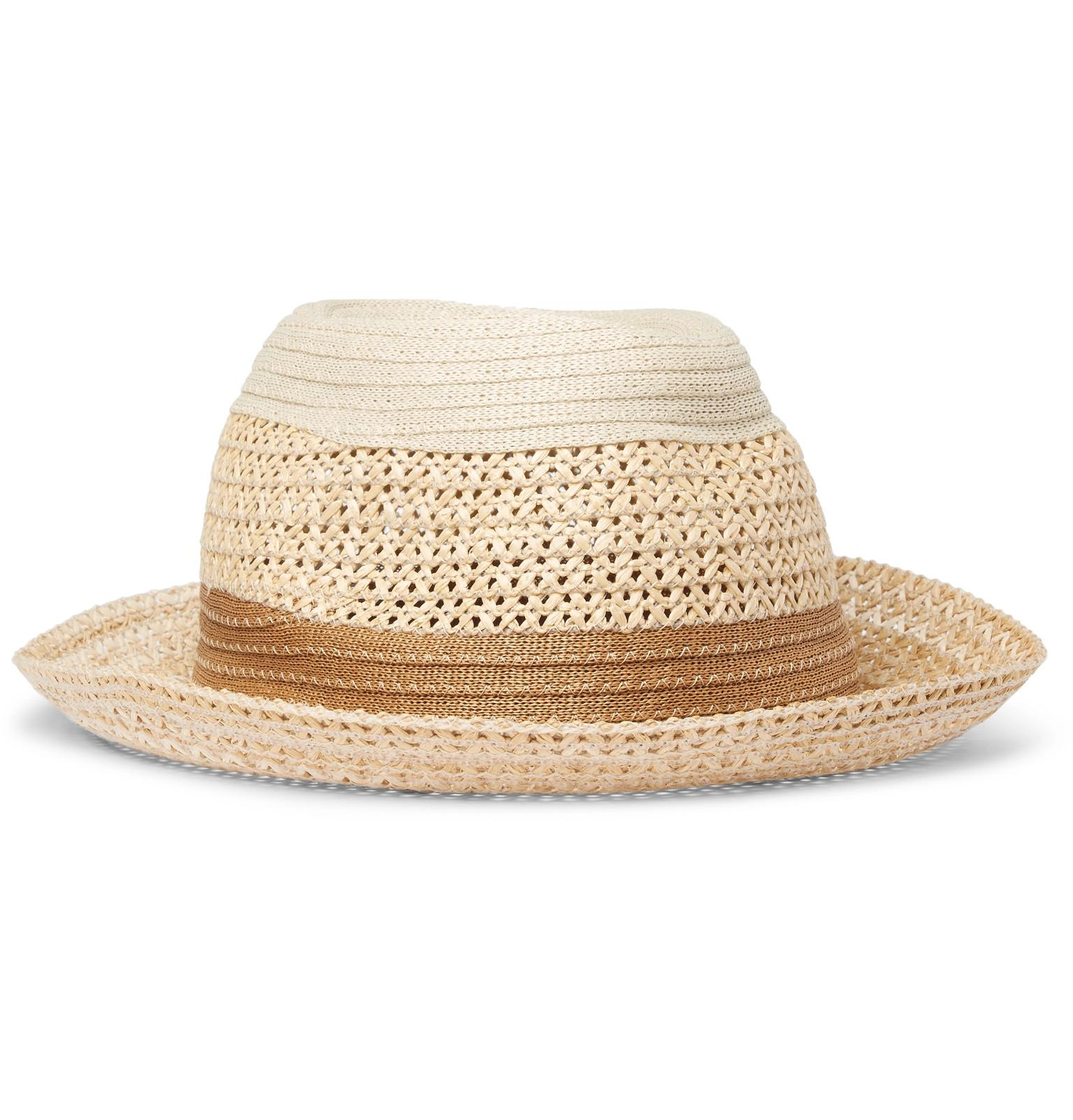 a4e676a6f0f Paul Smith Woven Panama Hat in Natural for Men - Lyst