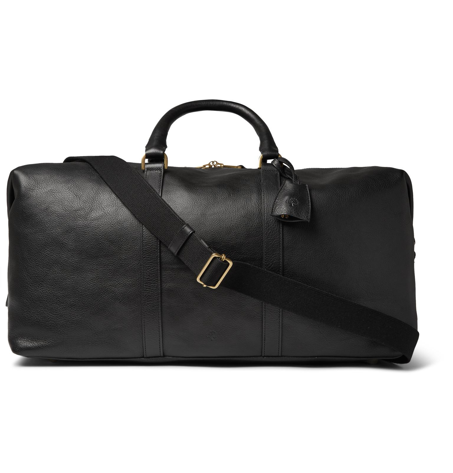 14a040404 Mulberry - Black Medium Clipper Leather Holdall for Men - Lyst. View  fullscreen