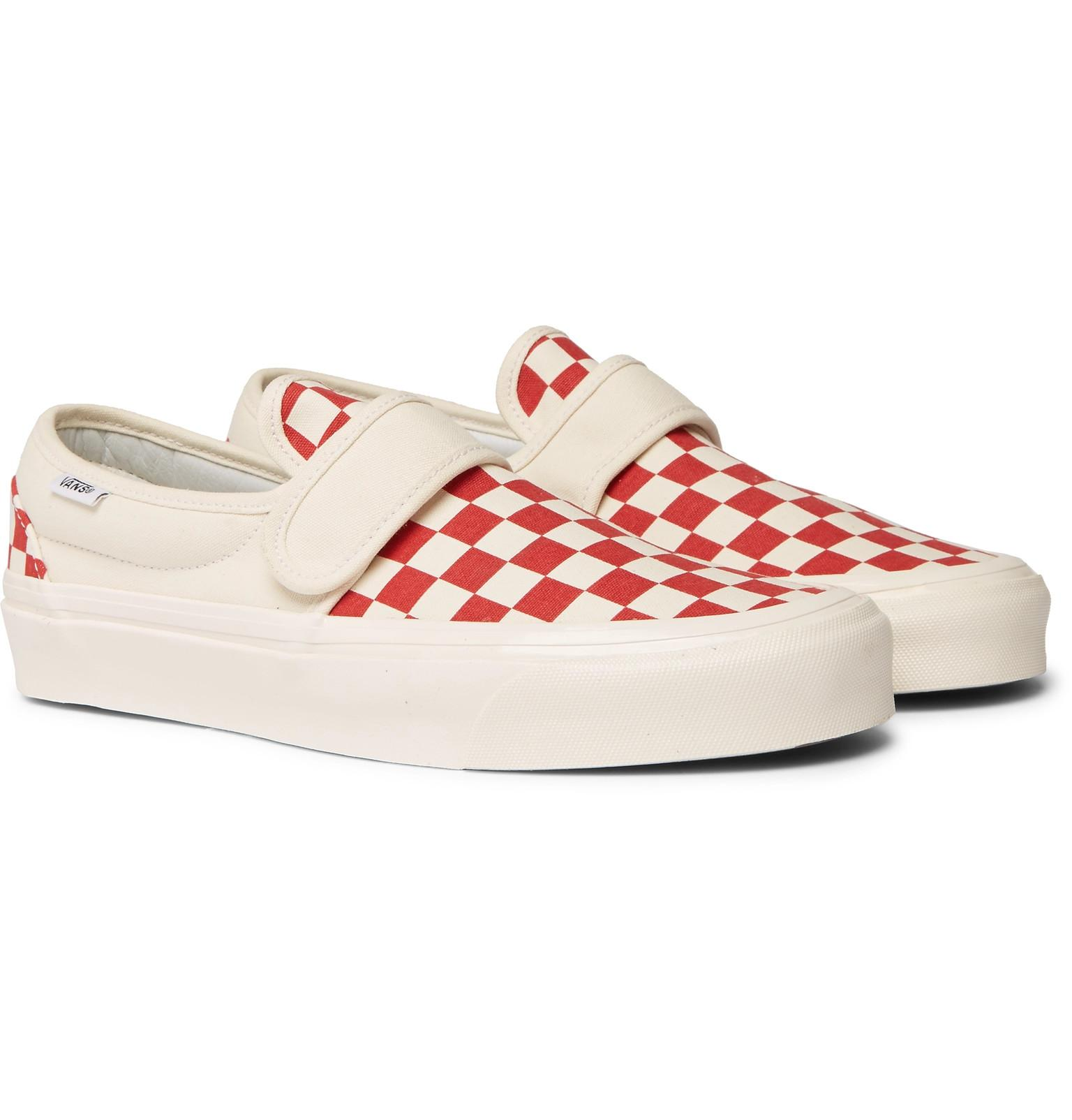 255f3eebfb2 Vans Anaheim Factory 47 V Dx Checkerboard Canvas Sneakers in Red for ...