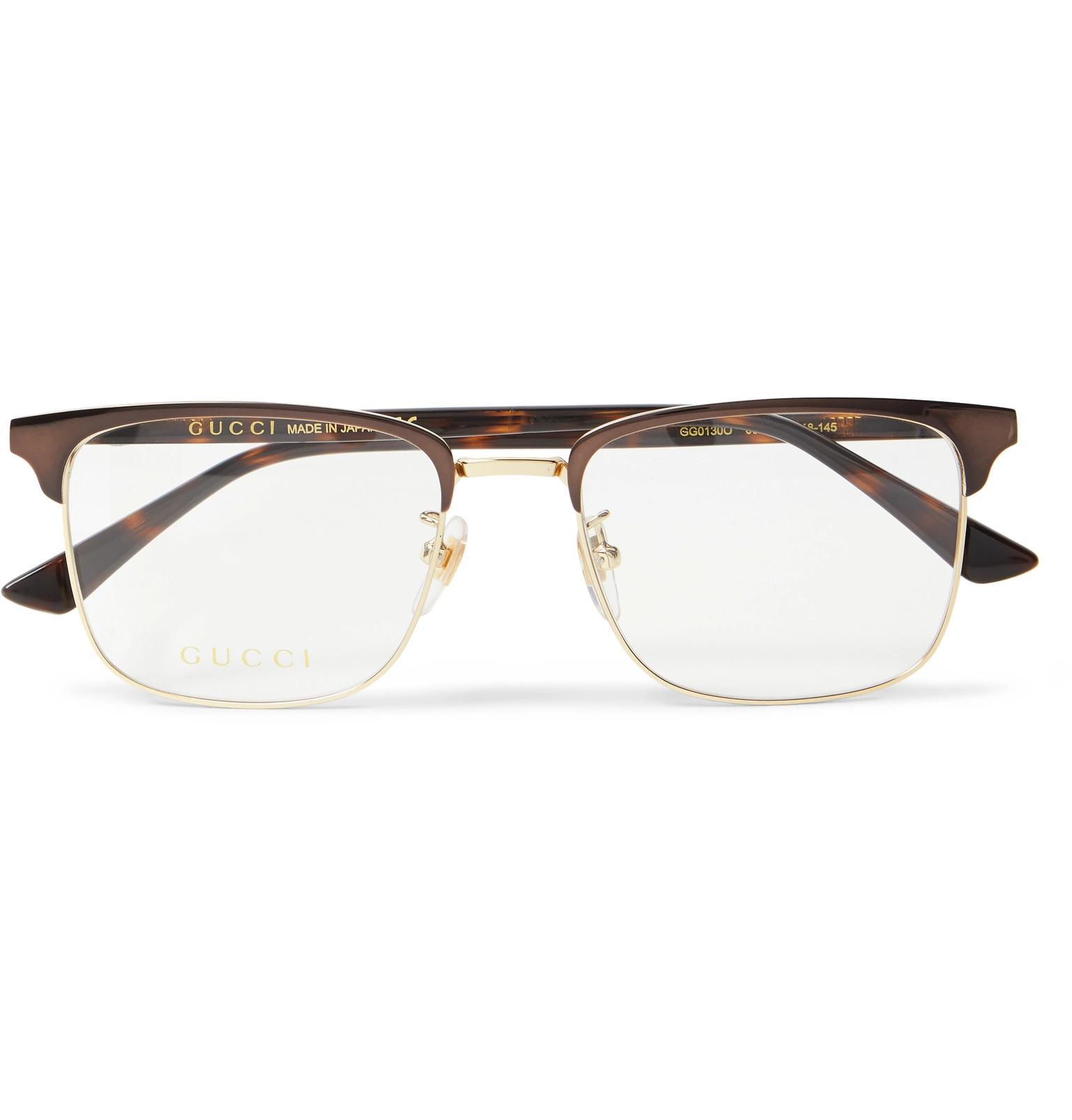 1326712f0a527 Gucci Square-frame Tortoiseshell Acetate And Gold-tone Optical ...