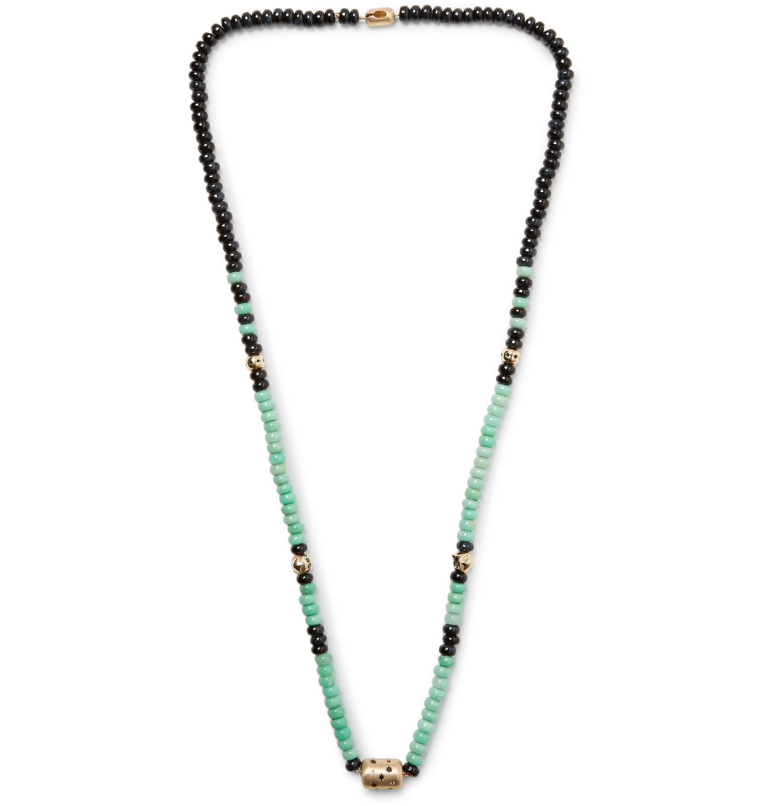 dot diamond with chrysoprase products necklace