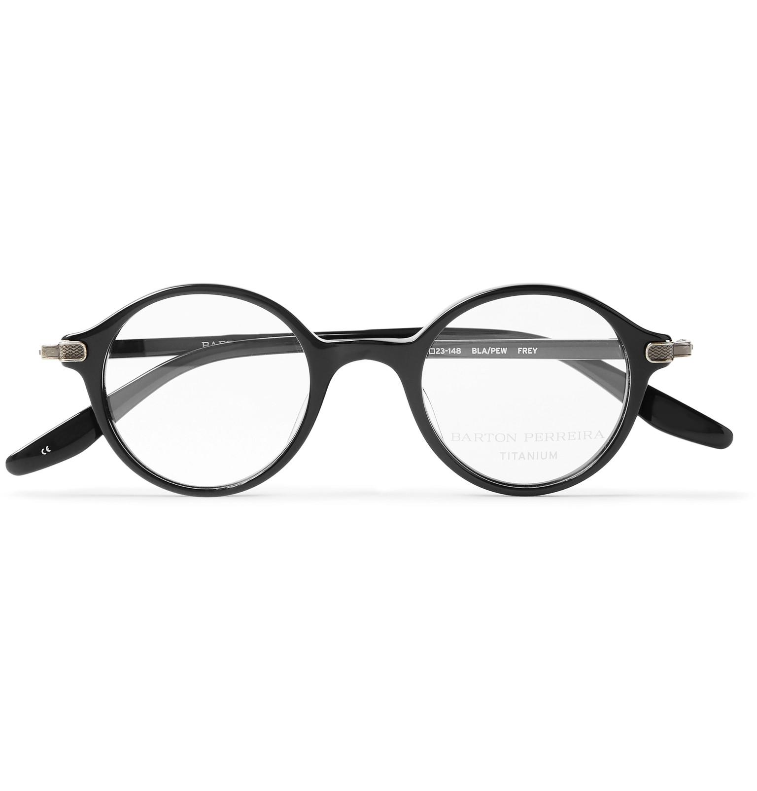 Lyst - Barton Perreira Frey Round-frame Acetate Optical Glasses in ...