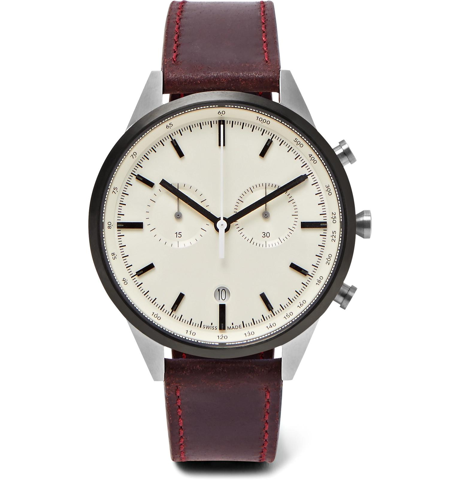 a7881b4f0 Lyst - Uniform Wares C41 Chronograph Pvd-coated Stainless Steel And ...