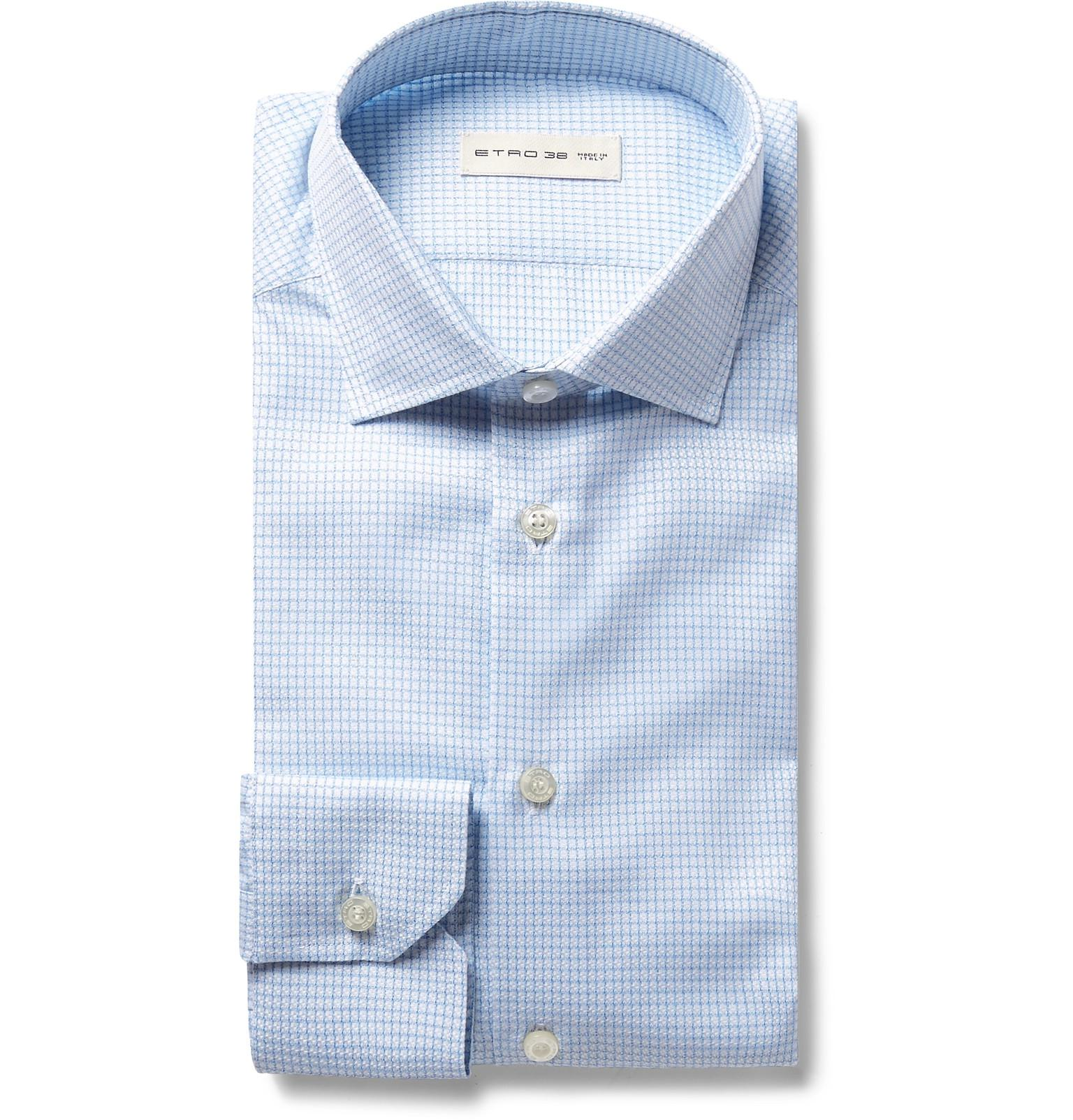 Slim-fit Checked Cotton Shirt Etro