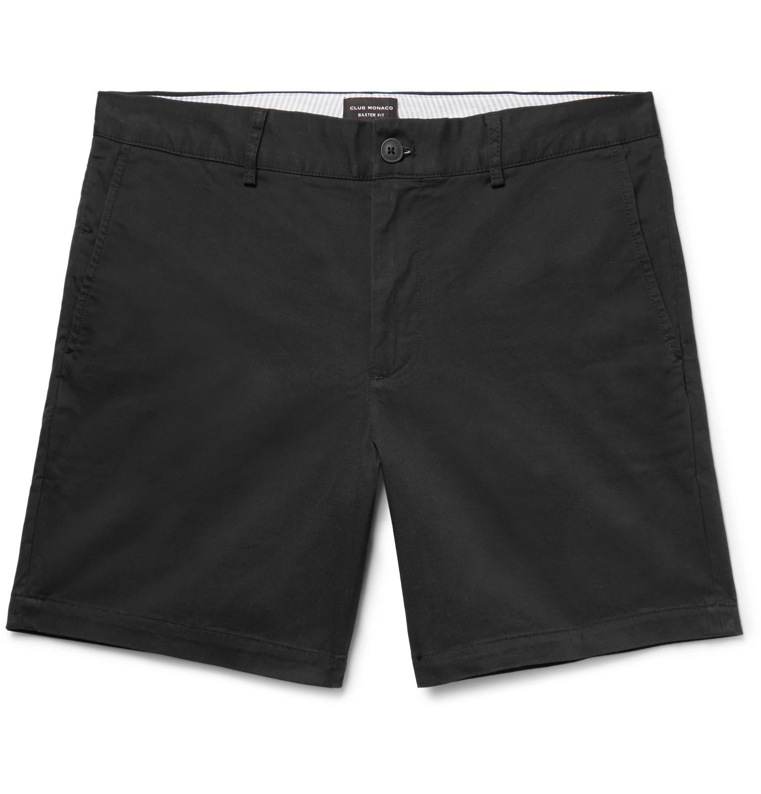Baxter Slim-fit Stretch-cotton Twill Shorts Club Monaco PtrtZI5H