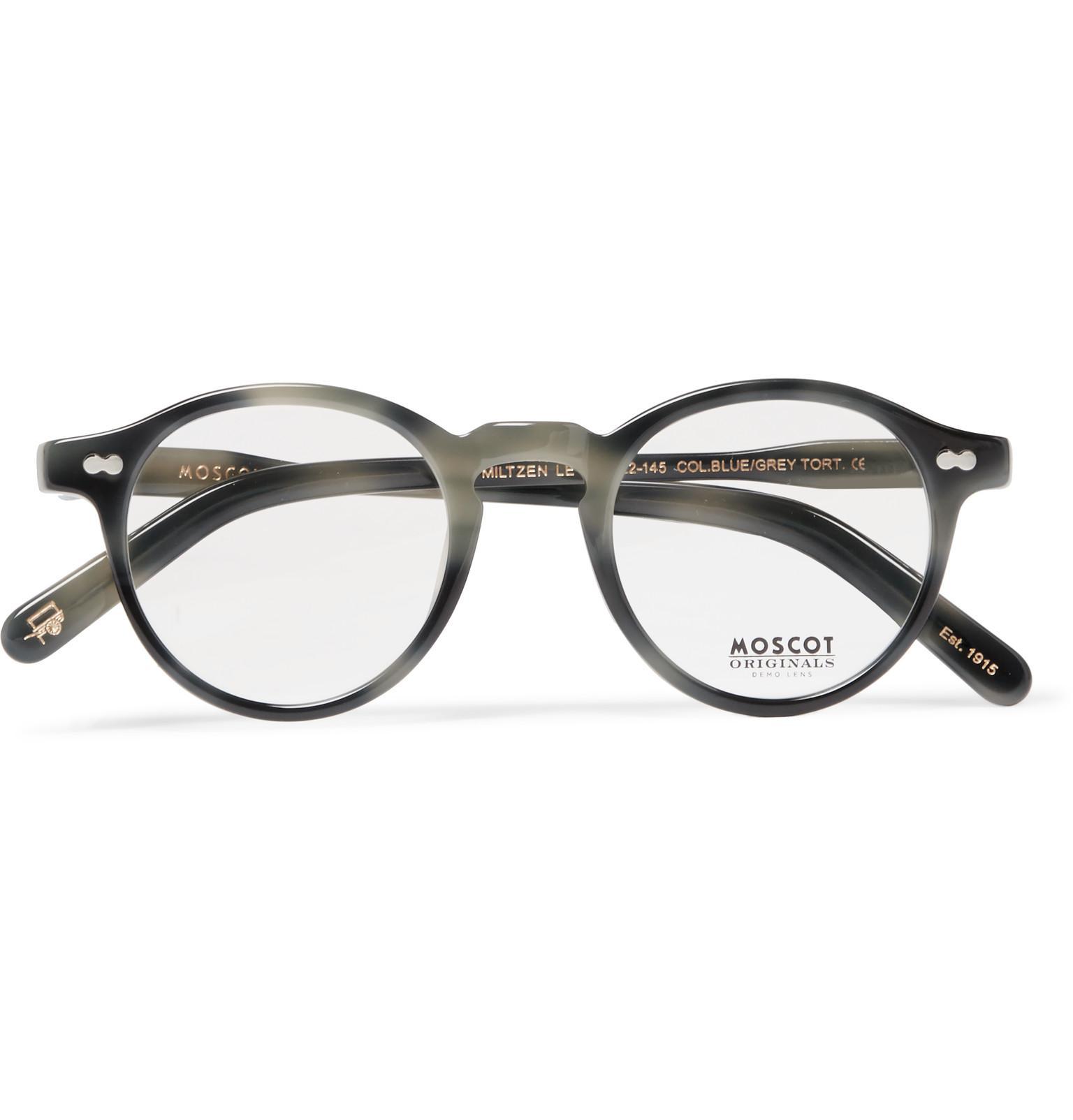 bc73c3d68ddc Lyst - Moscot Miltzen Round-frame Acetate Sunglasses in Gray for Men