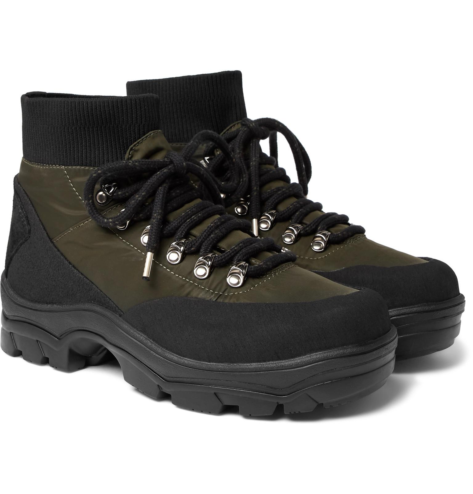b95453d3a7f0 Lyst - Moncler Clement Suede-trimmed Shell Hiking Boots in Black for Men