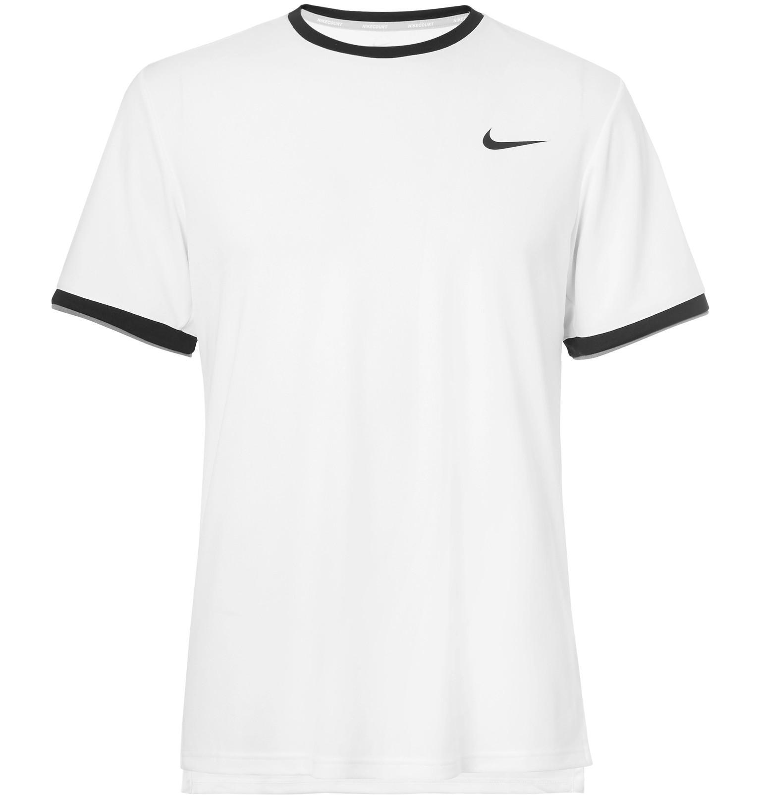688dcc9a4366 Lyst - Nike Nikecourt Dry Dri-fit Mesh Tennis T-shirt in White for Men