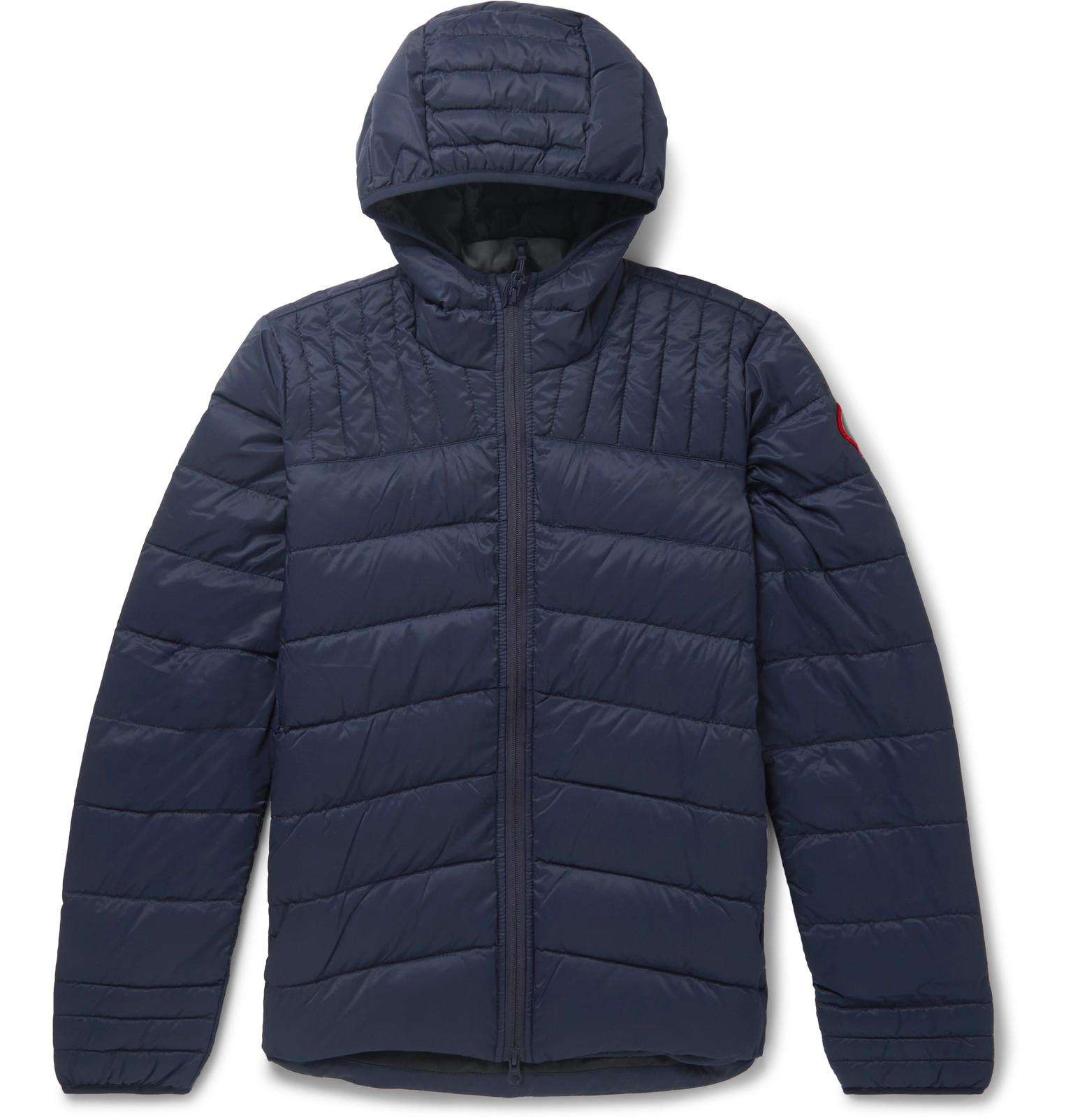 60ff9419013 Canada Goose. Men's Blue Brookvale Slim-fit Quilted Shell Hooded Down Jacket