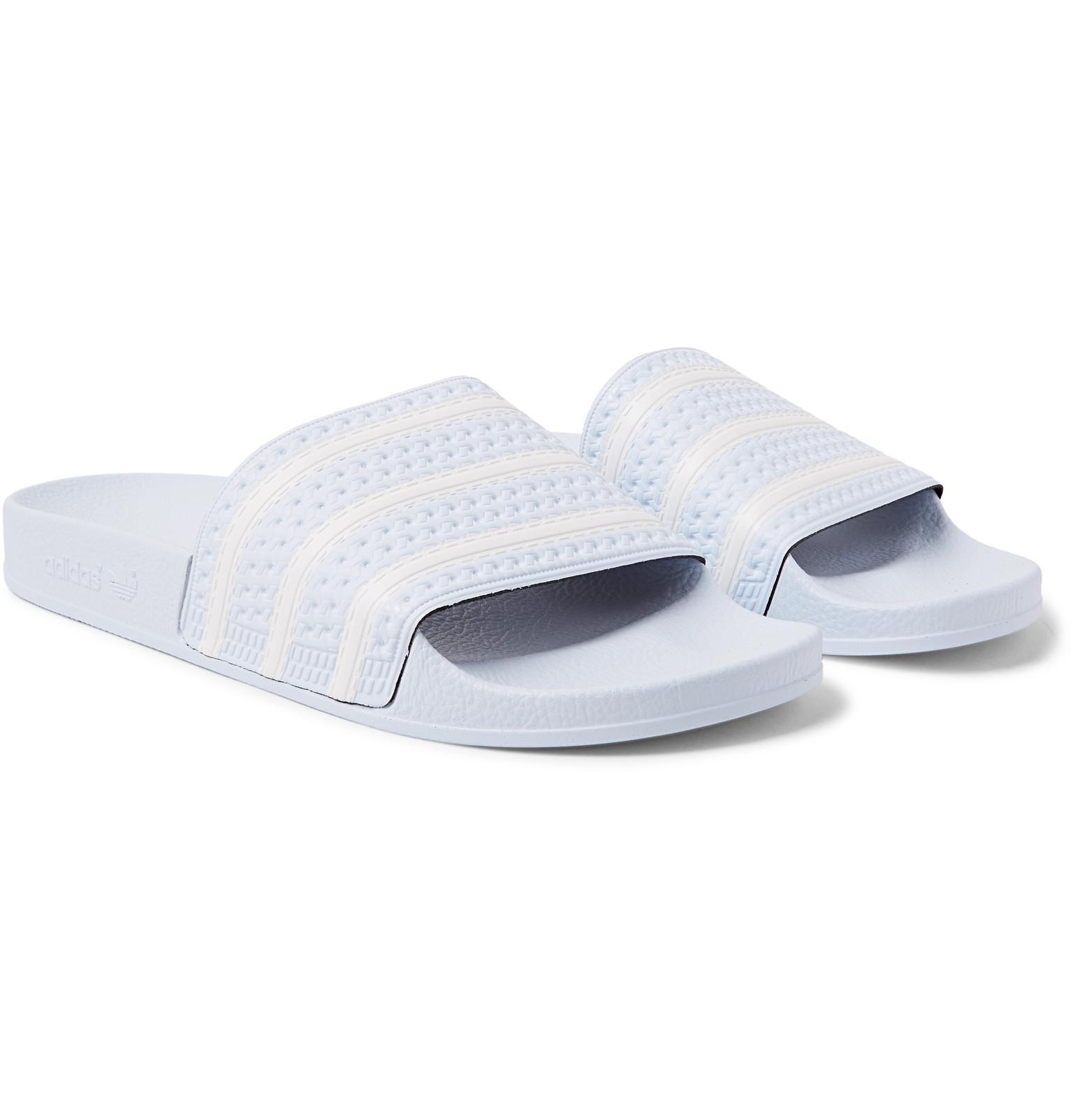 bb392d35f18281 Adidas Originals Adilette Textured-rubber Slides in Blue for Men - Lyst