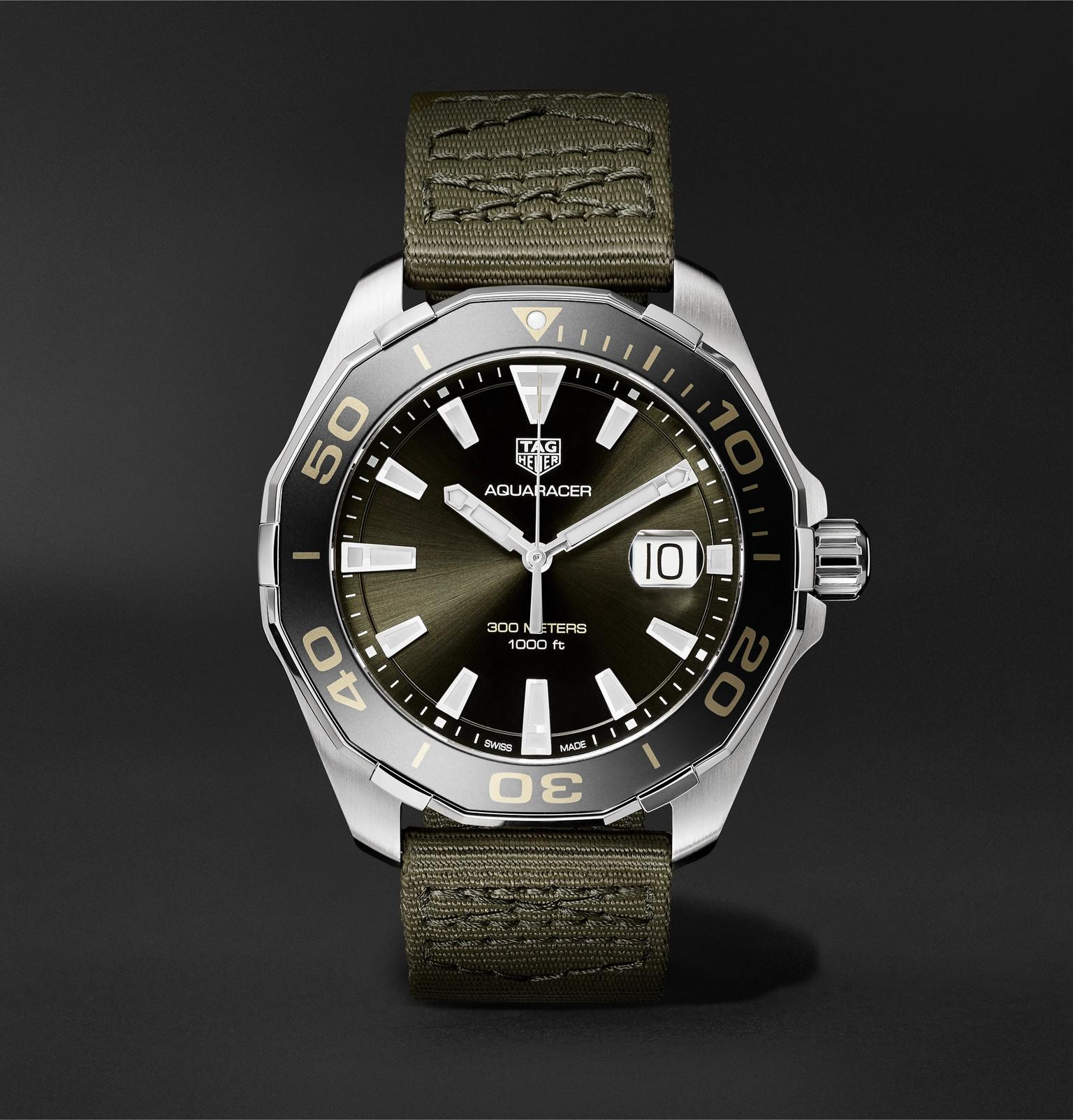 8cbd84ac6856 Tag Heuer. Men s Aquaracer Limited Edition Quartz 43mm Steel And Webbing  Watch