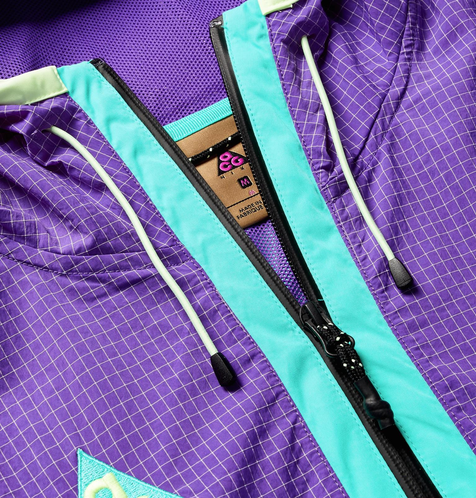 0376cd91dbf1 Lyst - Nike Acg Colour-block Nylon-blend Ripstop And Shell Hooded ...