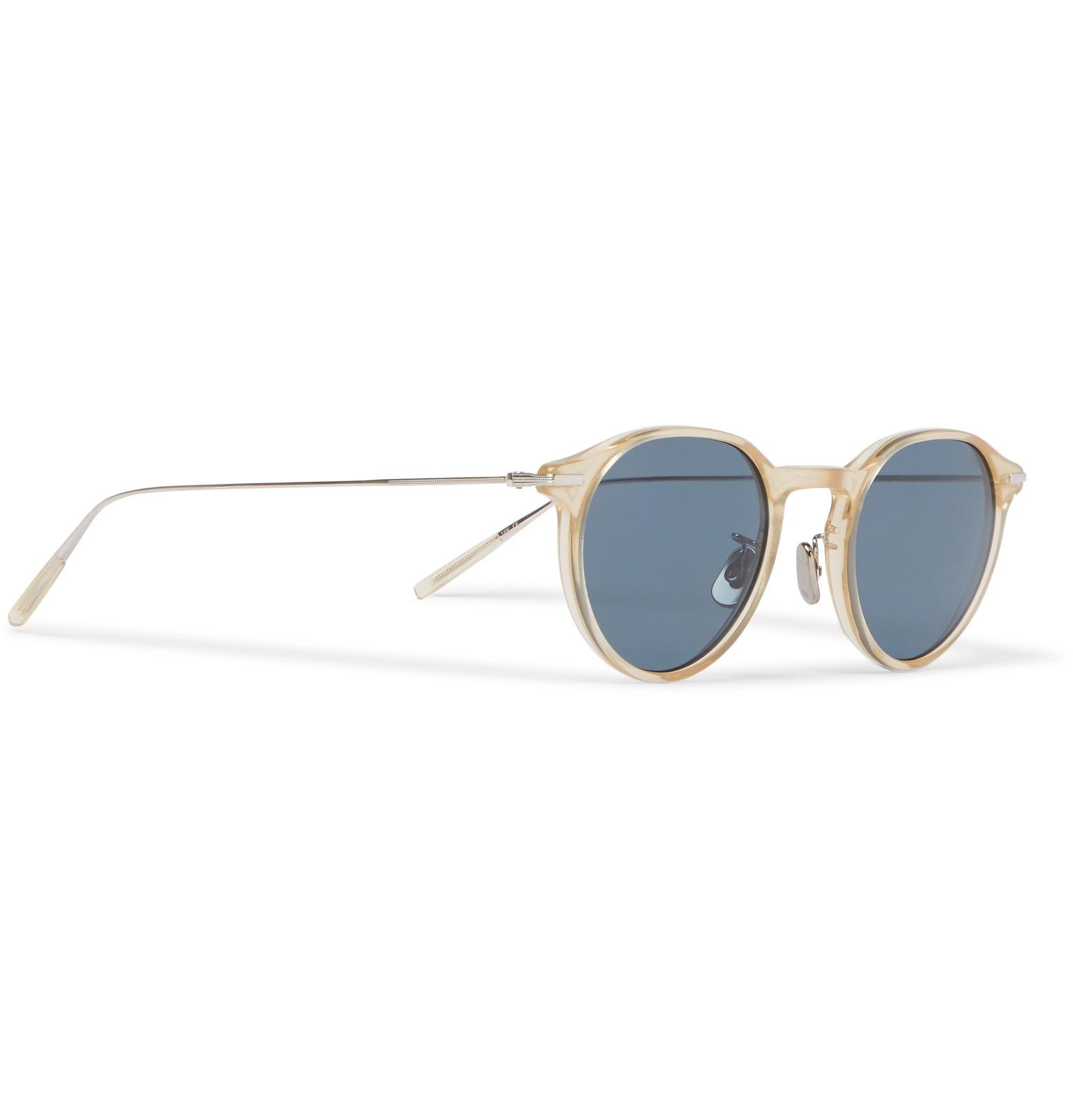 c99b861ddda Lyst - Eyevan 7285 749 Round-frame Acetate And Titanium Sunglasses ...