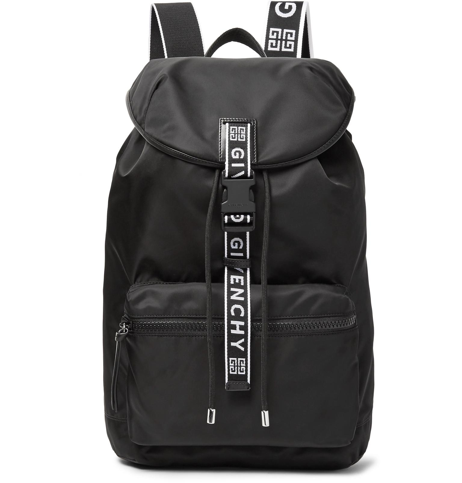 961393d5a550 Givenchy - Black Leather-trimmed Nylon Backpack for Men - Lyst. View  fullscreen