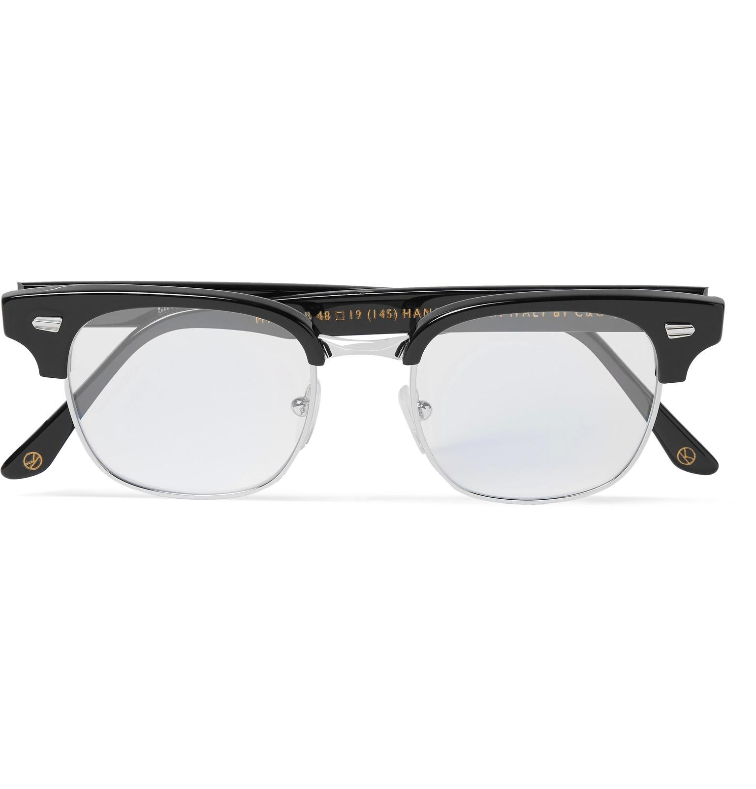 a095b78c0e Lyst - Kingsman Cutler And Gross Merlin s Square-frame Acetate And ...