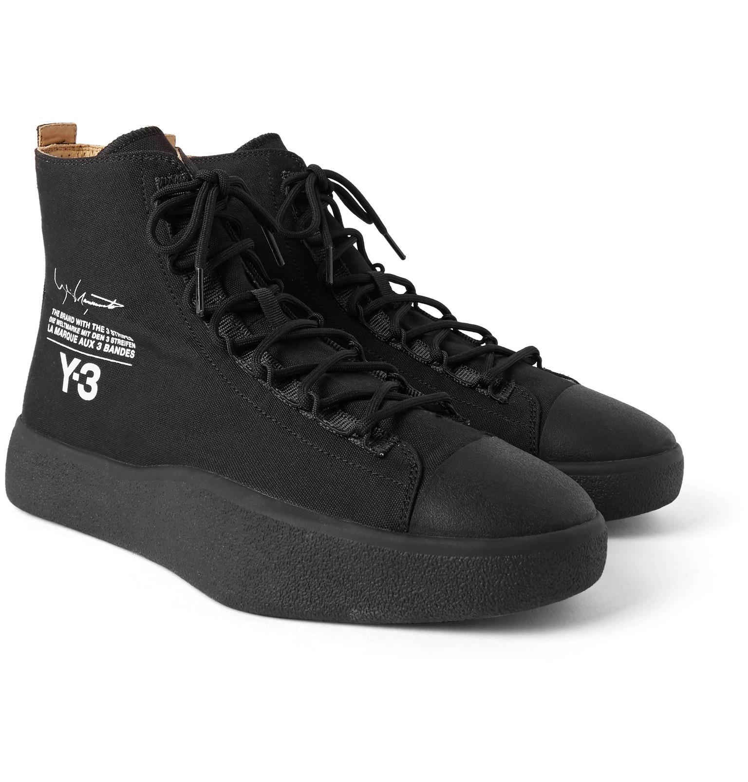 Y-3 Bashyo Floral Hi-Top Sneakers pFdp6xl