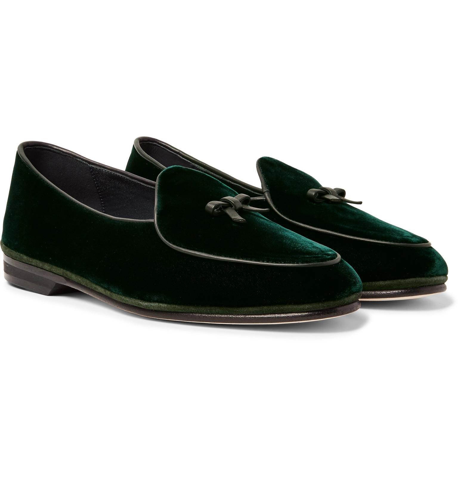 3da357aa88e Rubinacci Marphy Velvet Tasselled Loafers in Green for Men - Lyst