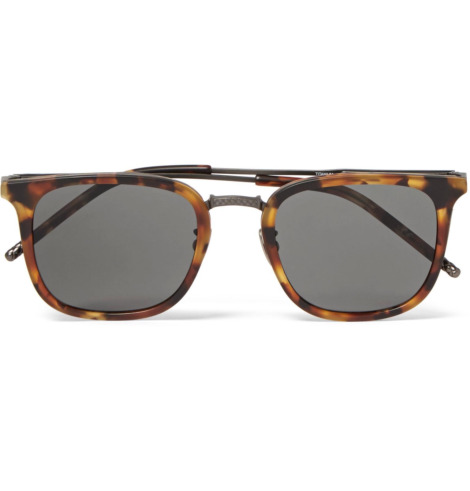 Bottega Veneta Square-frame Tortoiseshell Acetate And Gunmetal-tone Sunglasses - Brown cnQkN0ujNB