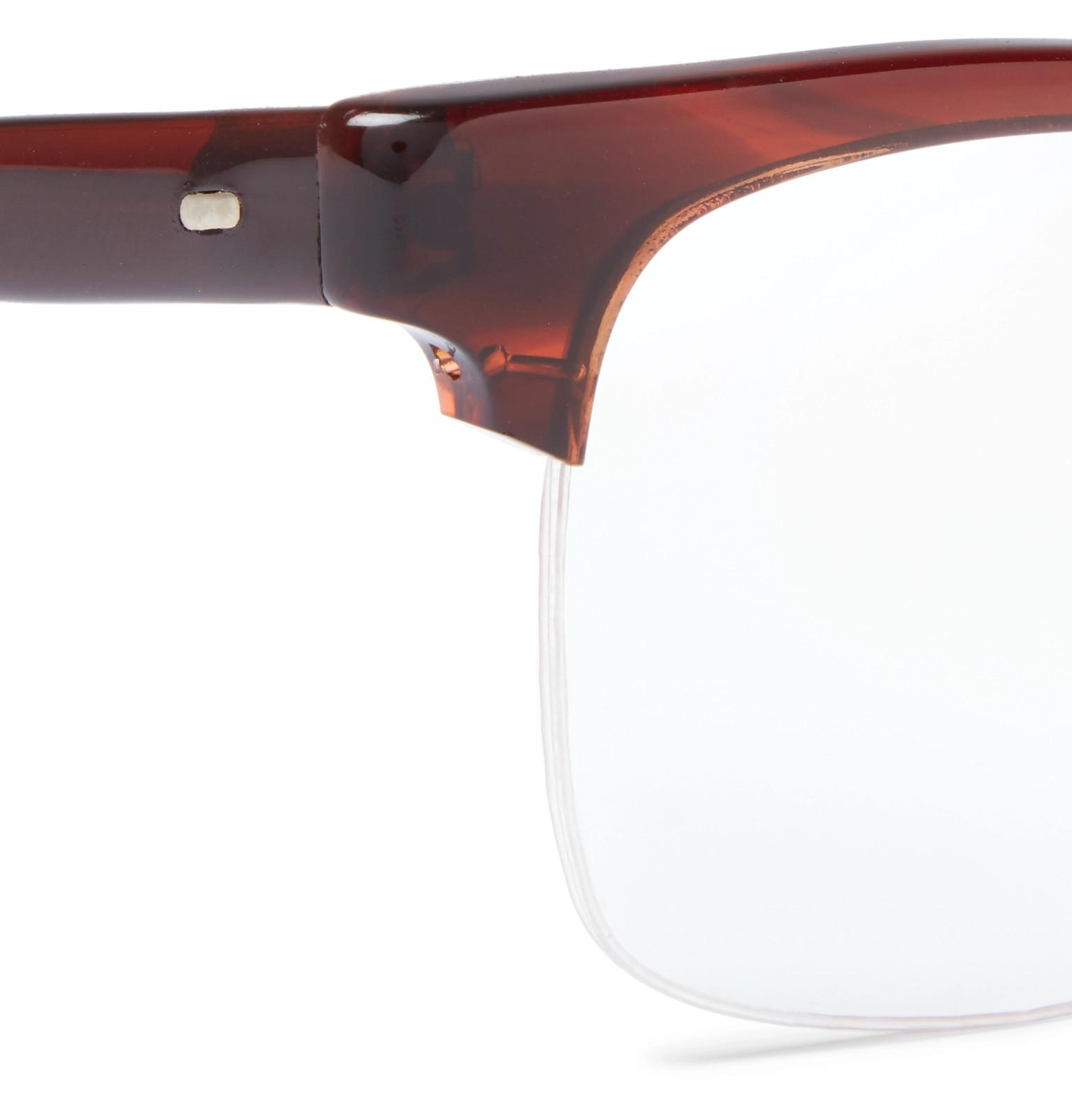 7ffe49a965 Lyst - Kingsman + Cutler And Gross Square-frame Tortoiseshell ...