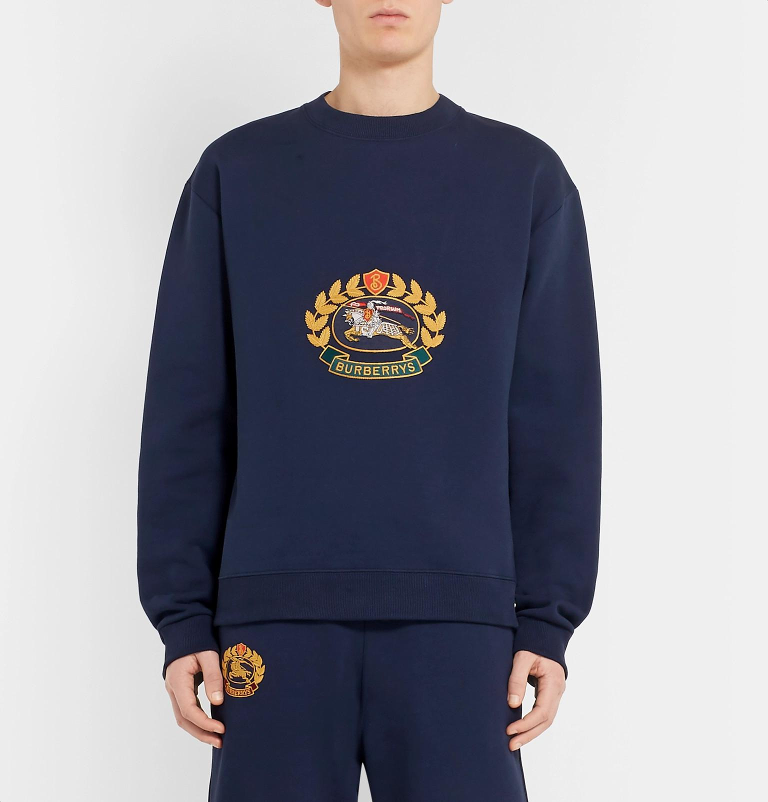 1ba0ed15e97e Burberry Pre-owned Navy Cotton Knitwear   Sweatshirts in Blue for ...