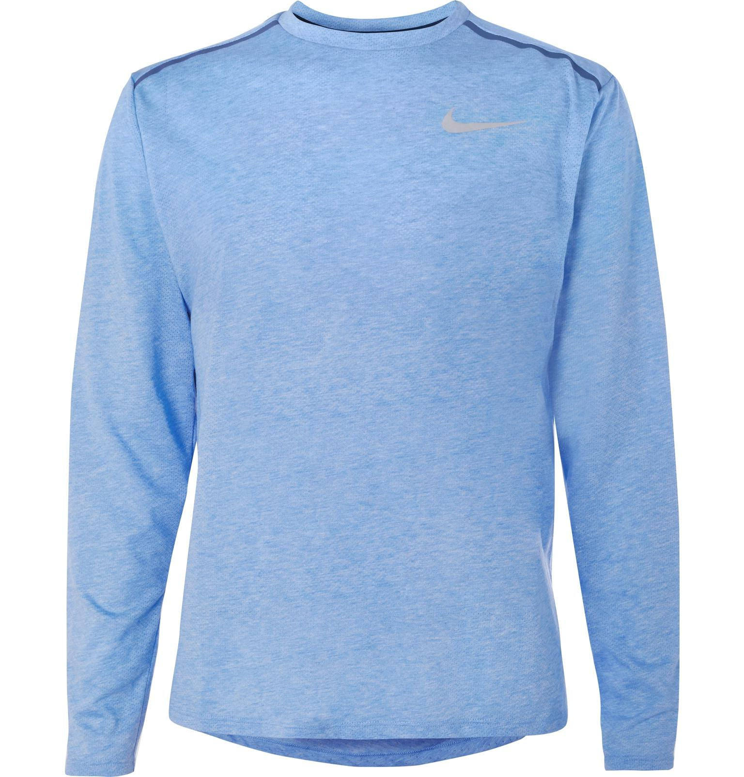 e64d8532df56 Nike Rise 365 Perforated Dri-fit T-shirt in Blue for Men - Lyst