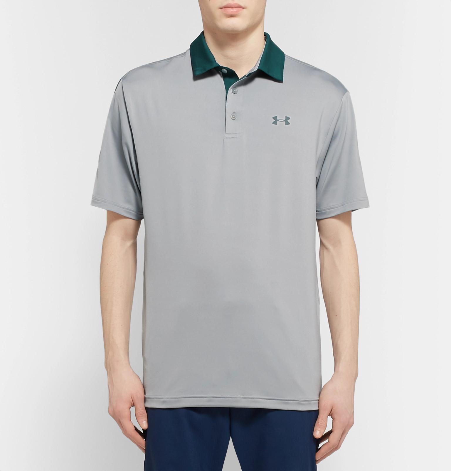 52af86615bdc62 Under Armour - Gray Playoff 2.0 Heatgear Golf Polo Shirt for Men - Lyst.  View fullscreen